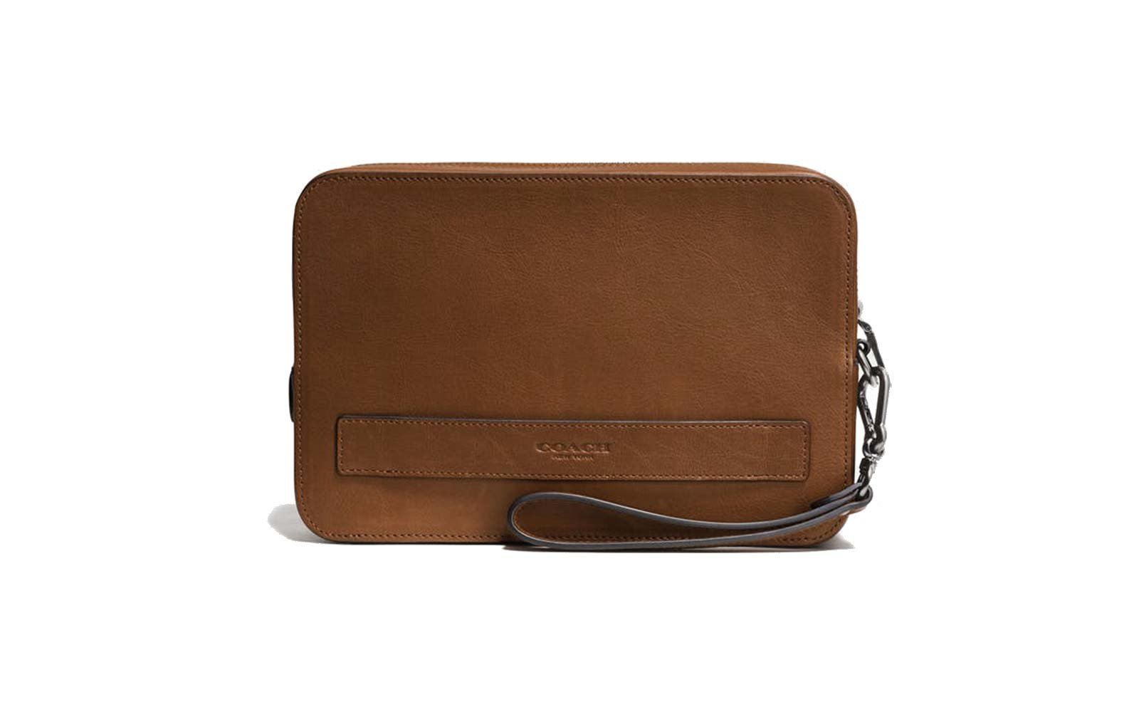 Coach Leather Pouchette Travel Wallet