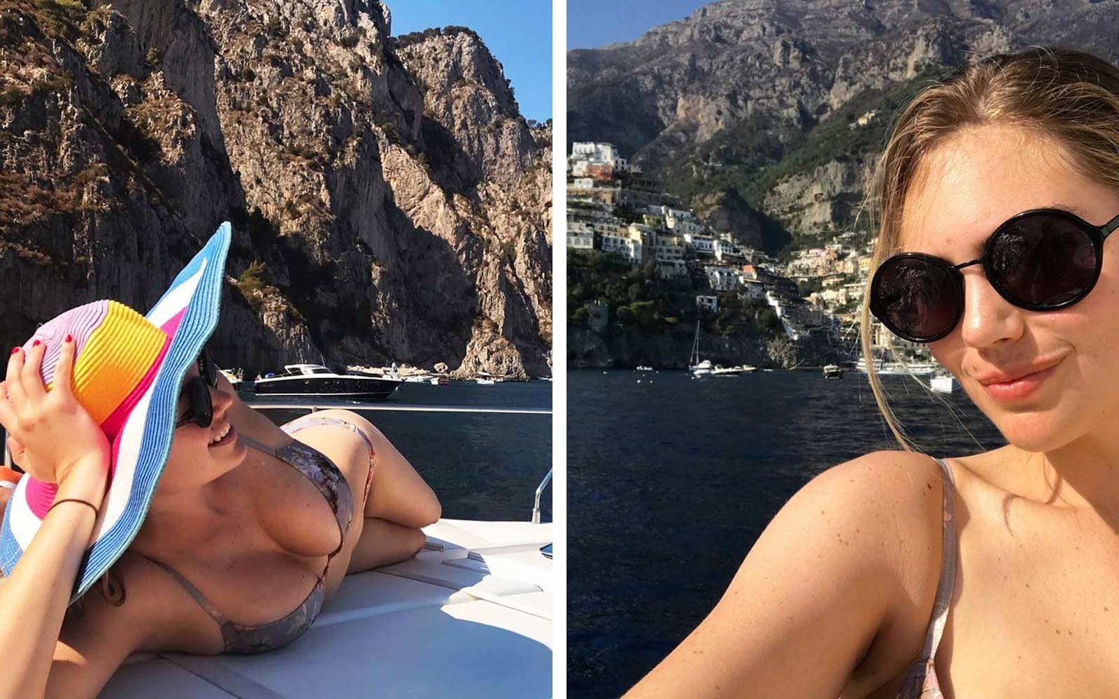Kate Upton Summer Vacation Holiday Travel Capri Italy Yacht