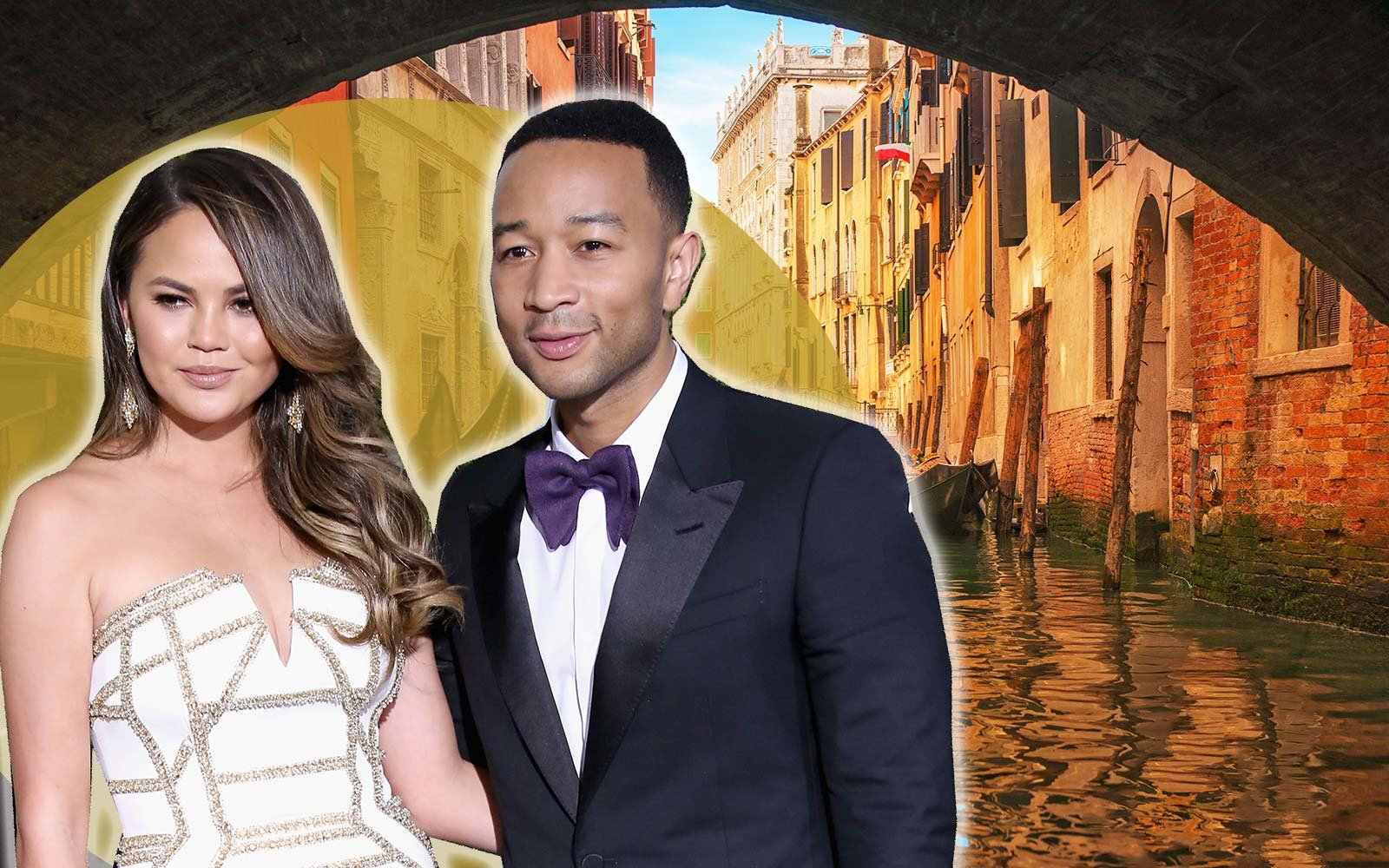 Chrissy Teigen John Legend Venice Italy Holiday Summer Travel Vacation
