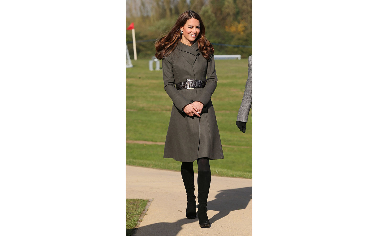 BURTON-UPON-TRENT, ENGLAND - OCTOBER 09:  Catherine, Duchess of Cambridge attends the official launch of The Football Association's National Football Centre at St George's Park on October 9, 2012 in Burton-upon-Trent, England. (Photo by Chris Jackson - Po