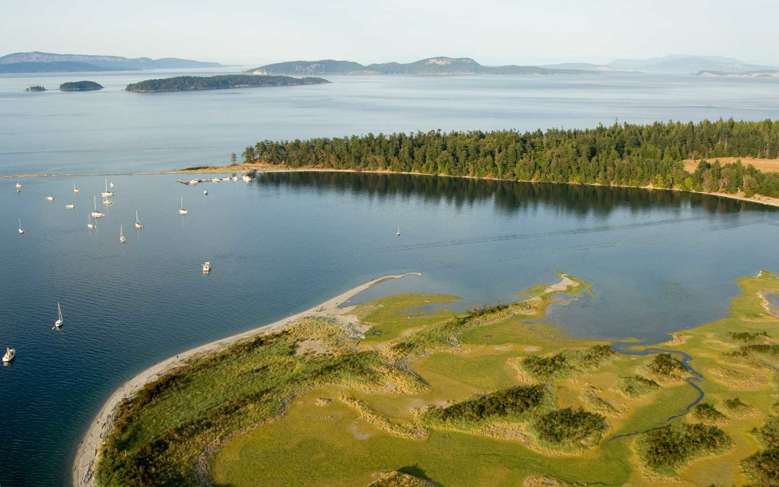 Sidney Spit in the Gulf Islands National Park Reserve. Gulf Islands, British Columbia, Canada