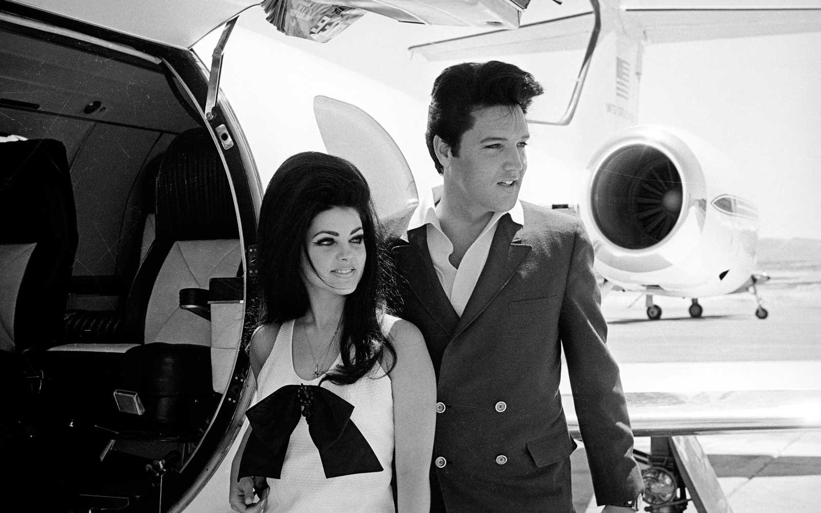 Newlyweds Elvis and Priscilla Presley