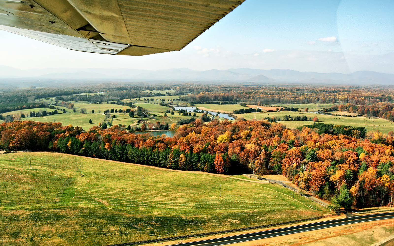 Charlottesville-Albemarle Airport Virginia Thanksgiving Autumn Fall Travel Booking