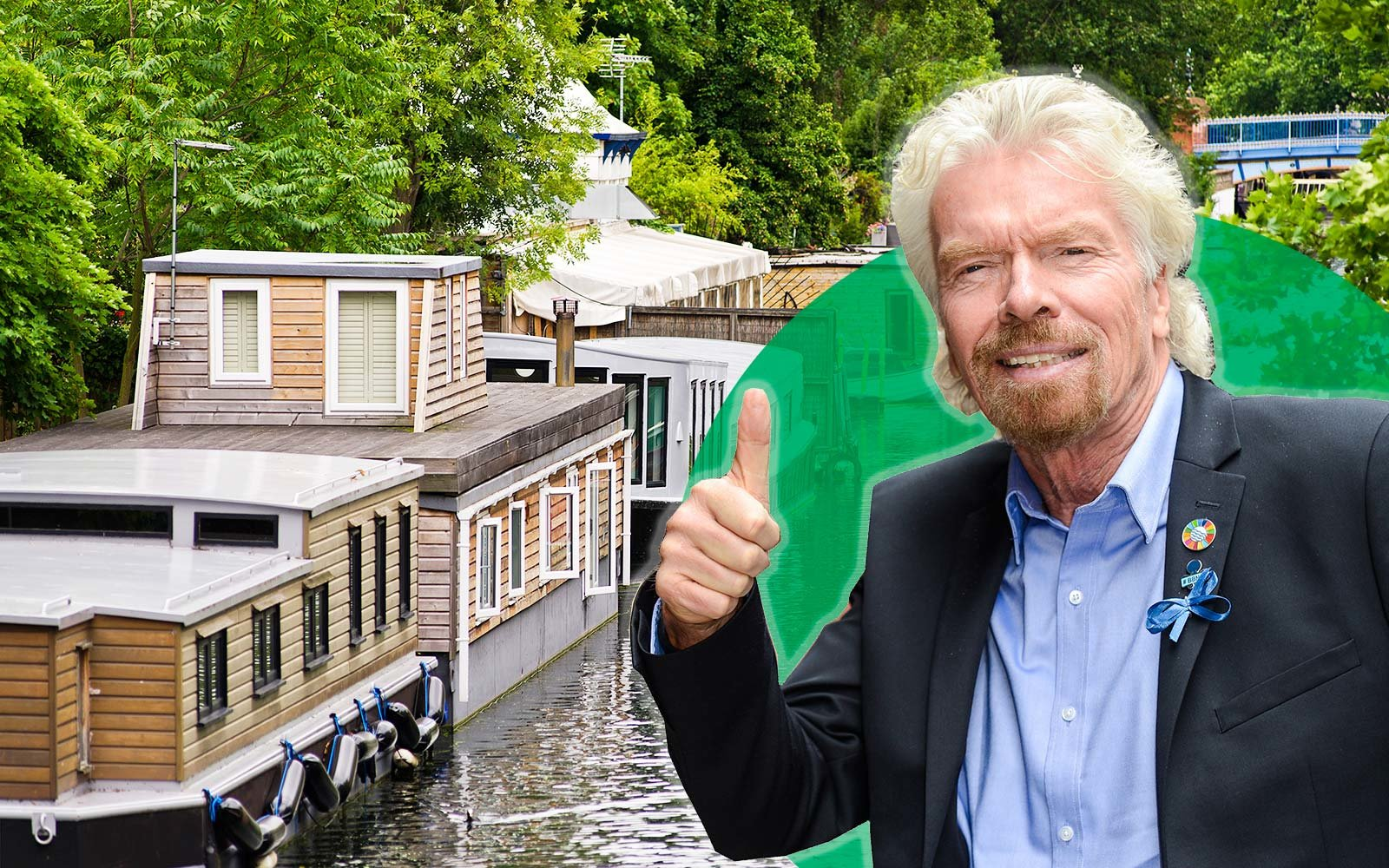 Richard Branson Houseboat London Little Venice Canal Boat Rental UK
