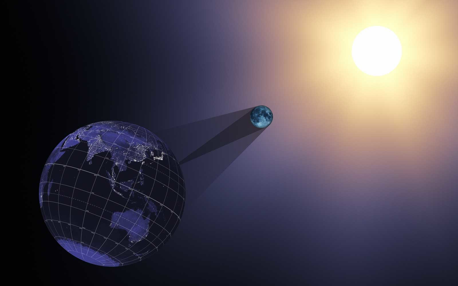 Representation of the Solar Eclipse from NASA