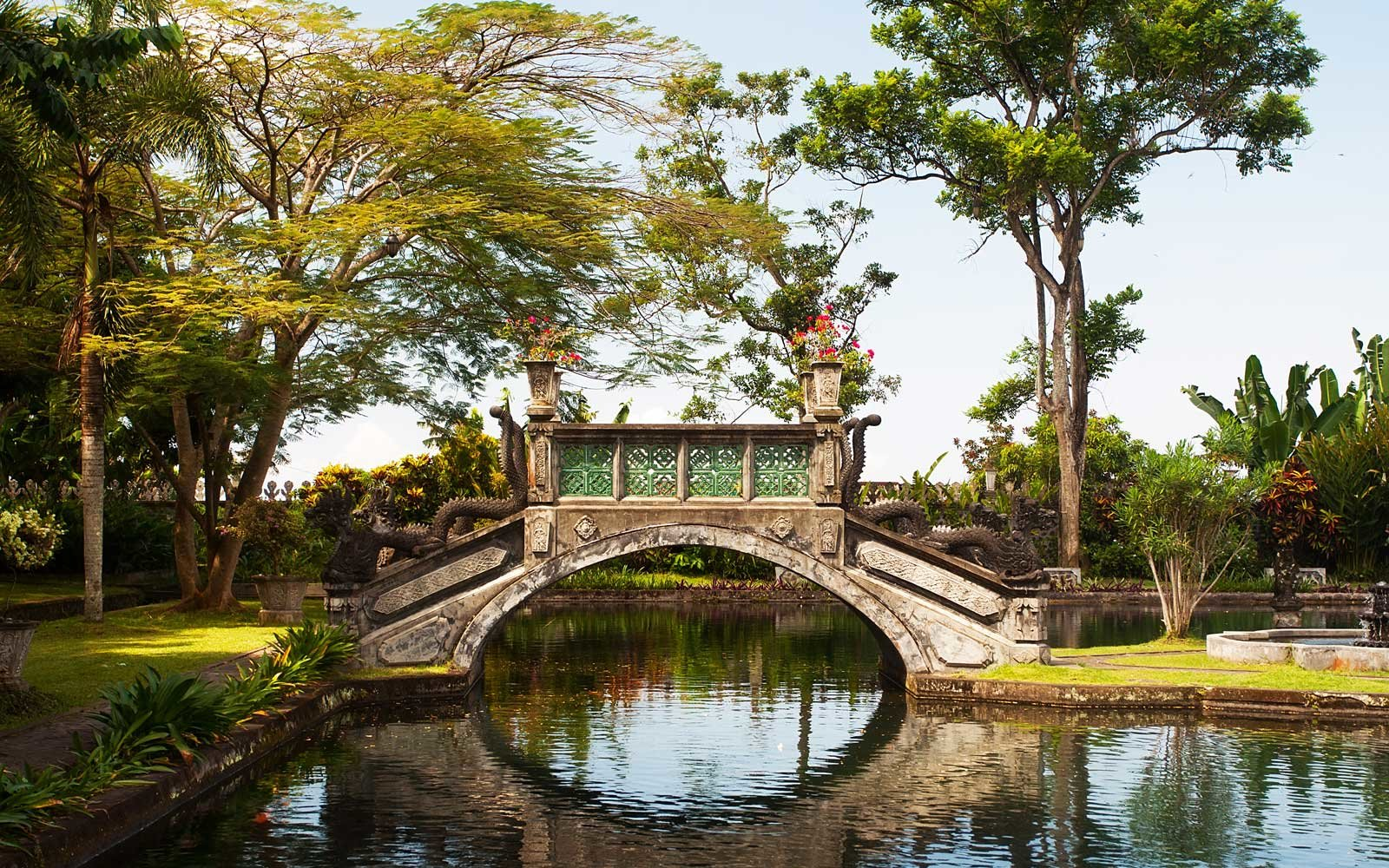 Water Palace of Tirtagangga. Bali, Indonesia