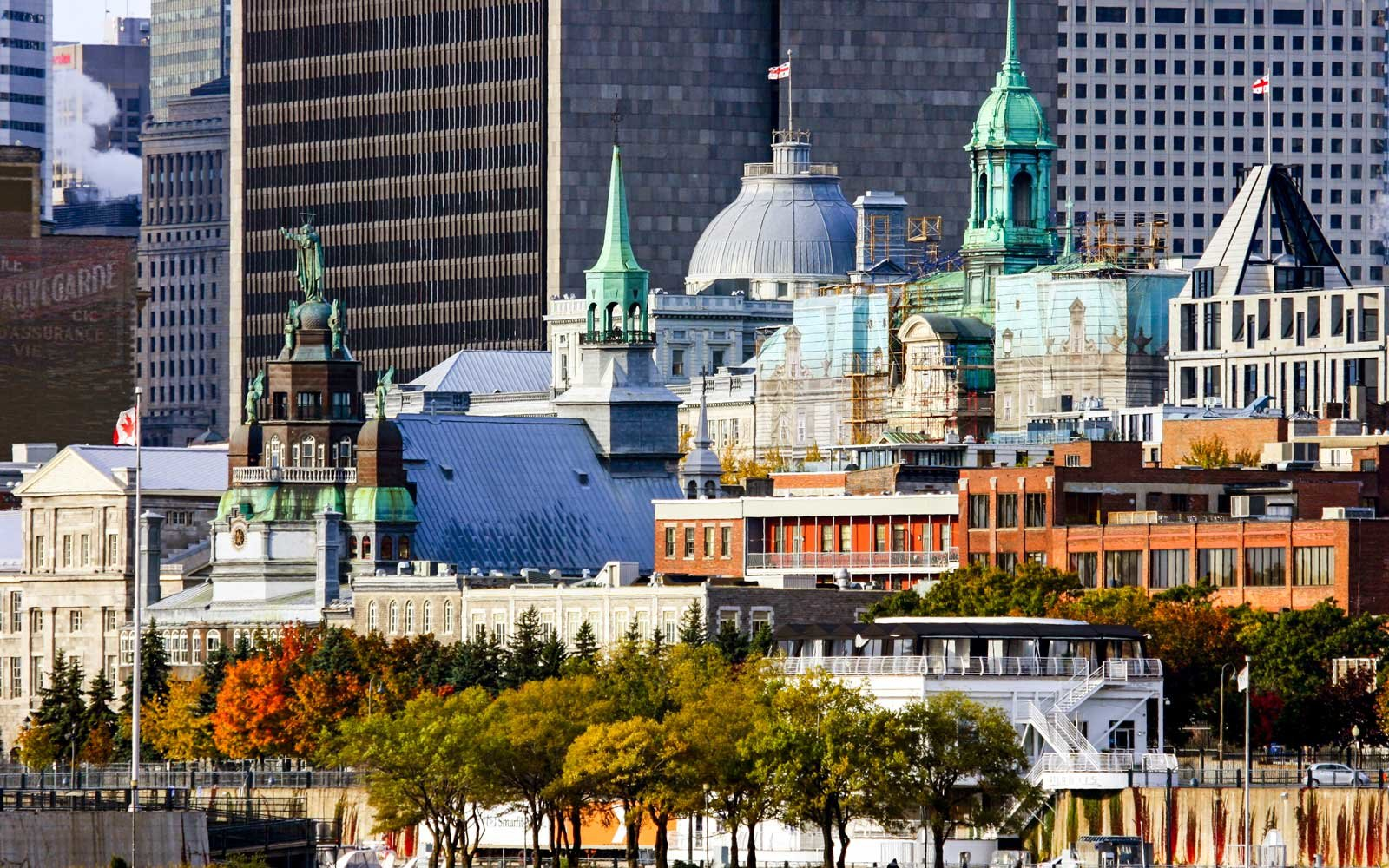 A View Of Montreal Cityscape During The Fall