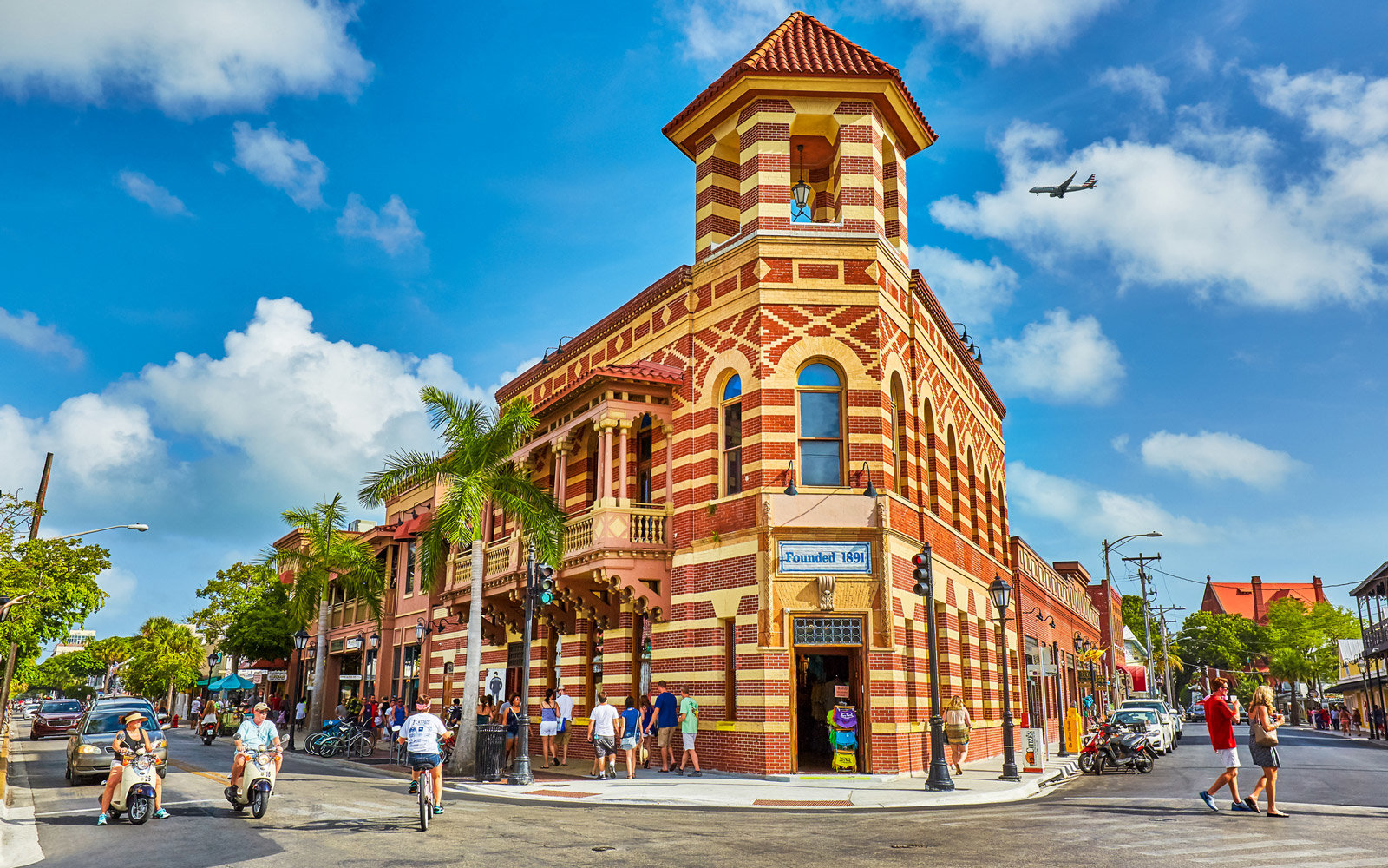 Historical brick building,Which was a former bank, founded in 1891, Key West,Florida,USA
