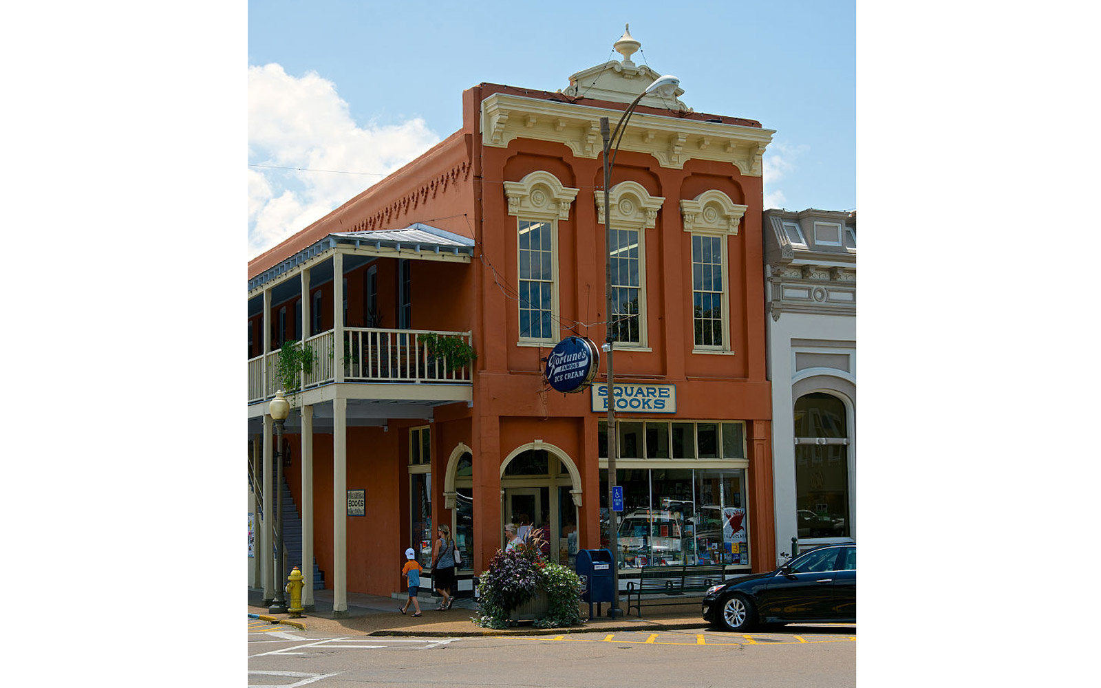 """Oxford. Mississippi 7-23-2014 The """"Square Books"""" bookstore in Oxford Mississippi. Owned by Lisa and Richard Howorth. Credit: Mark Reinstein (Photo by Mark Reinstein/Corbis via Getty Images)"""