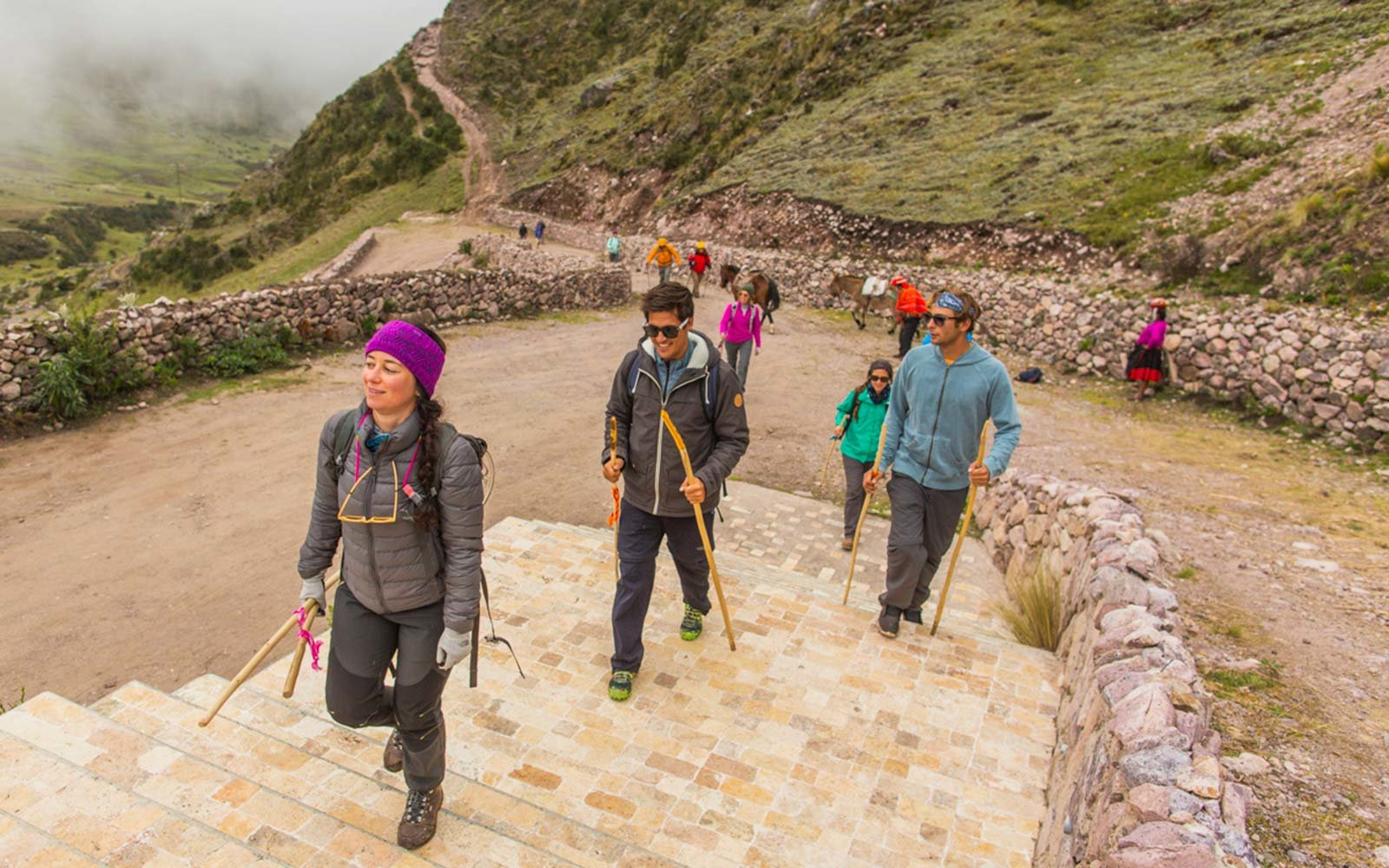 Mountain Lodges of Peru Group Tour Guide Hike