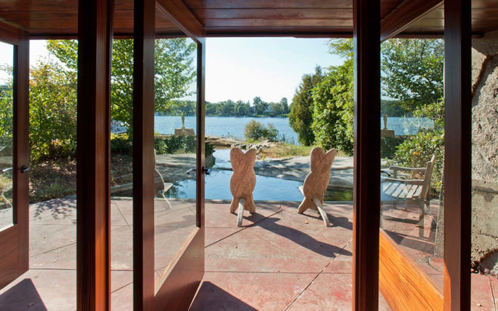 Frank Lloyd Wright Architecture Petra Island New York Massaro House Sale Guest House View