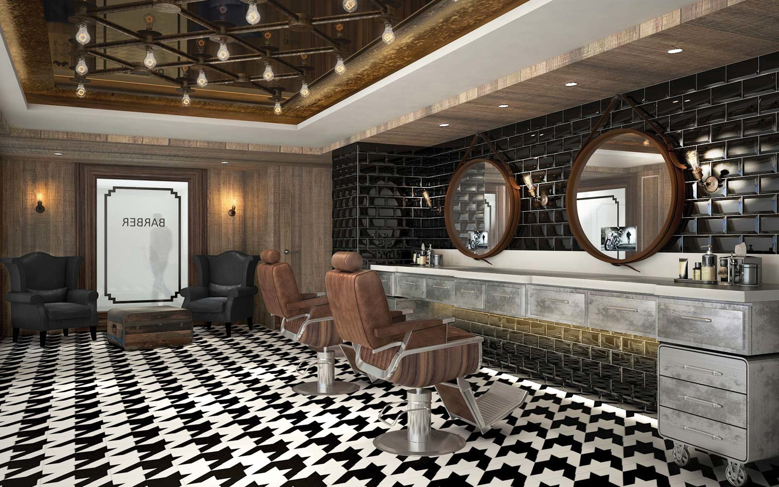 Norwegian Cruise Line Bliss Ship Barber Shop