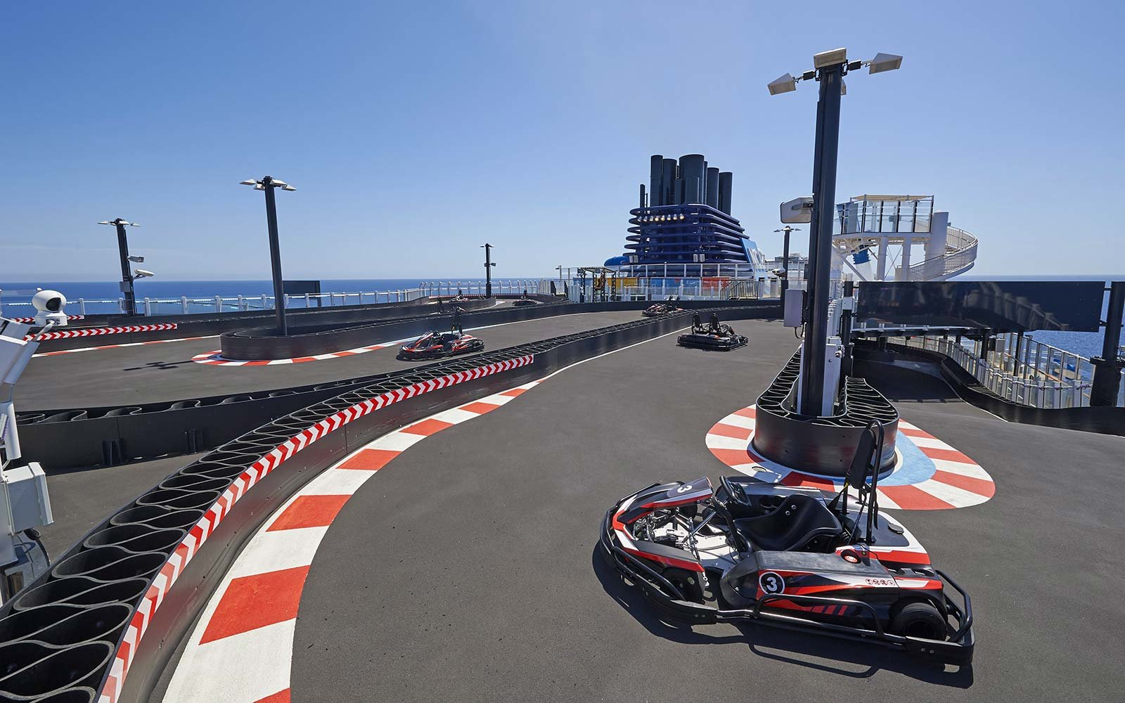 Norwegian Cruise Line Bliss Ship Go Carts Racing Track