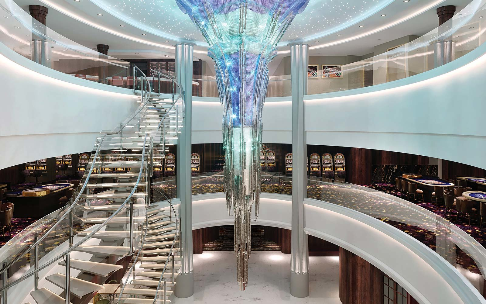 Norwegian Cruise Line Bliss Ship Public Space Lobby Ocean Palace