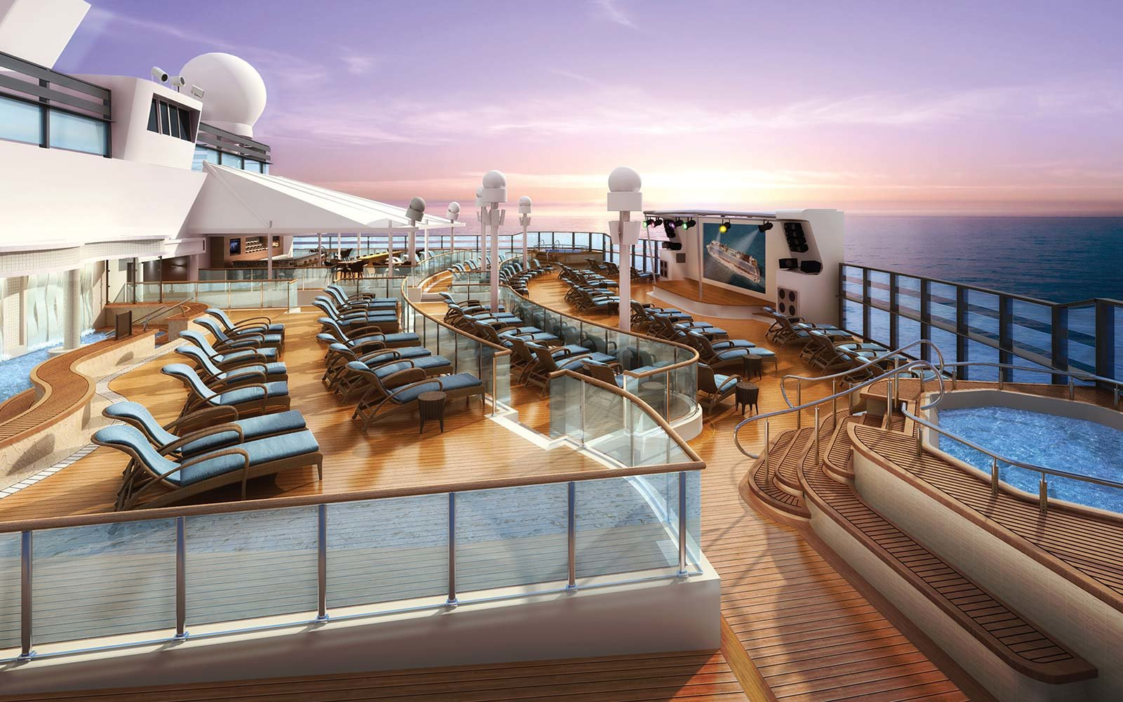 Norwegian Cruise Line Bliss Ship Spice Pool Deck Club Lounge