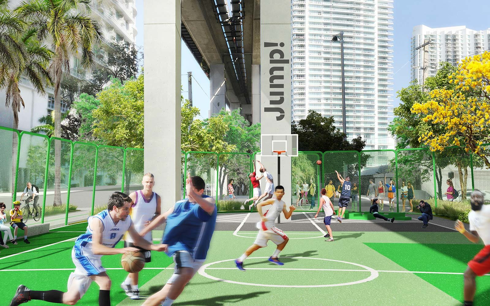 The Underline Urban Redevelopment Project James Corner Field Operations Brickell Park Miami Florida Basketball Gym