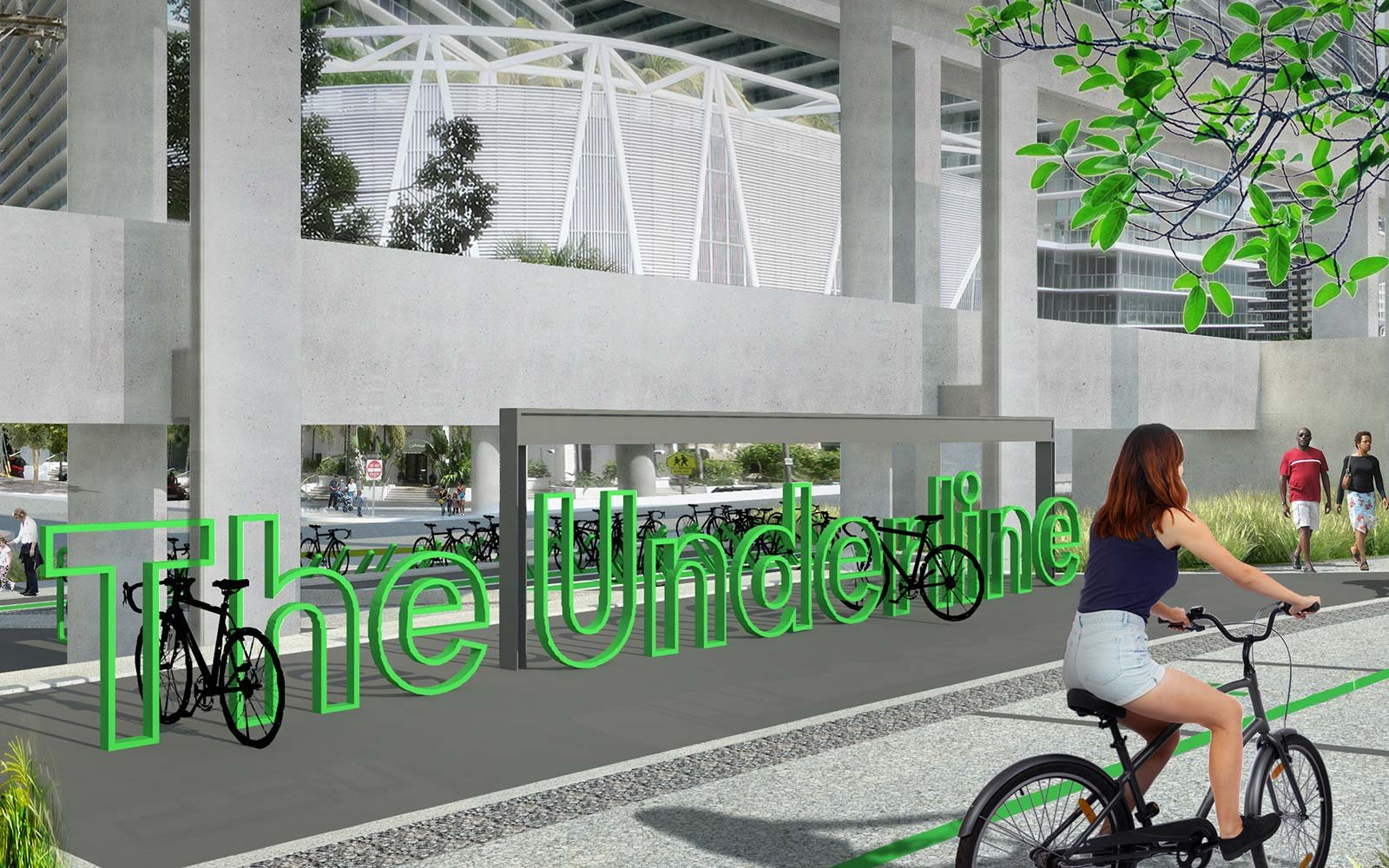 The Underline Urban Redevelopment Project James Corner Field Operations Brickell Park Miami Florida bicycle