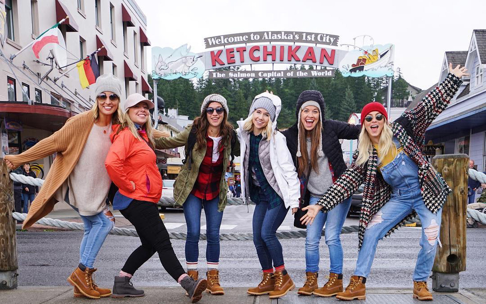 Julianne Hough and her friends in Ketchikan