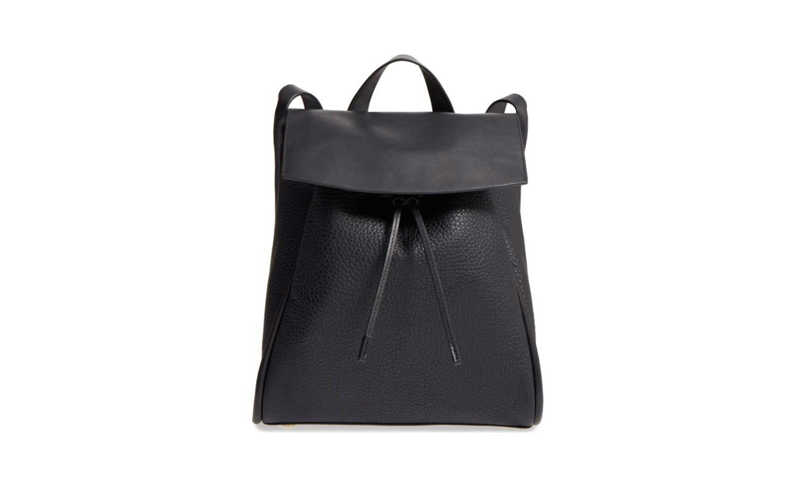 Skagen leather travel backpack