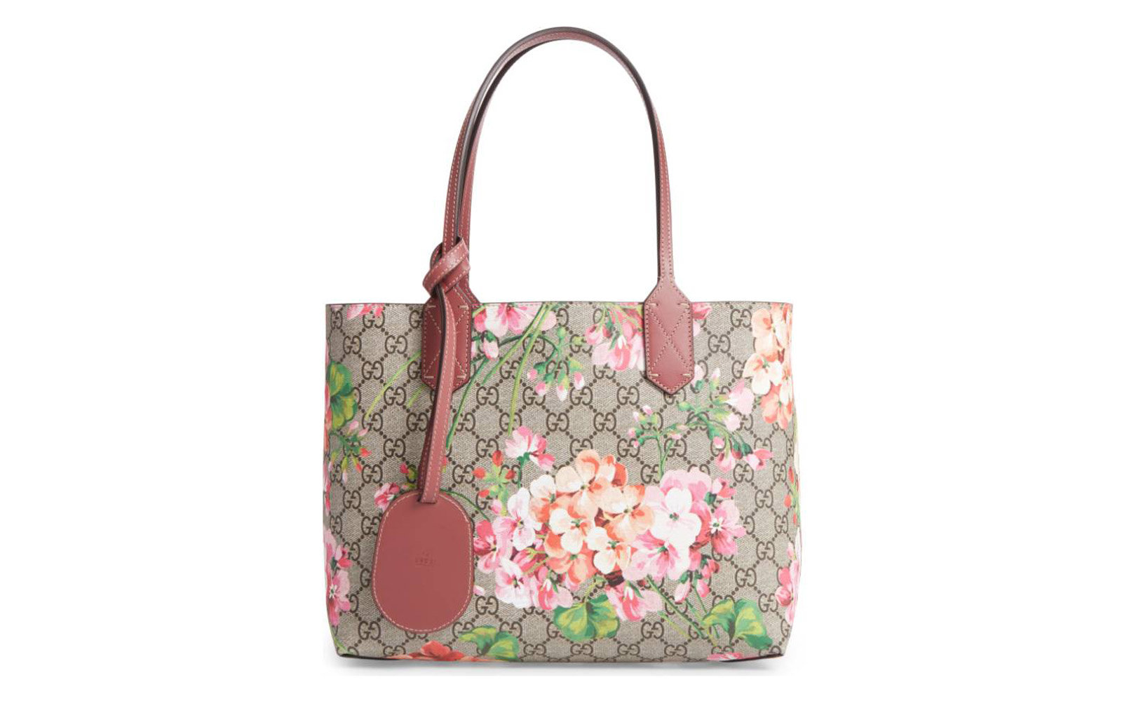 20f2087219c Small GG Blooms Reversible Canvas   Leather Tote