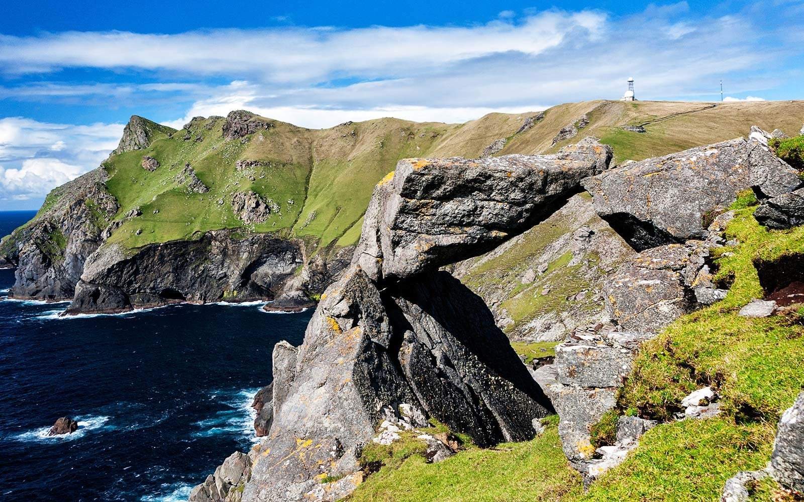 A view of the Mistress Stone on the island of St. Kilda Scotland