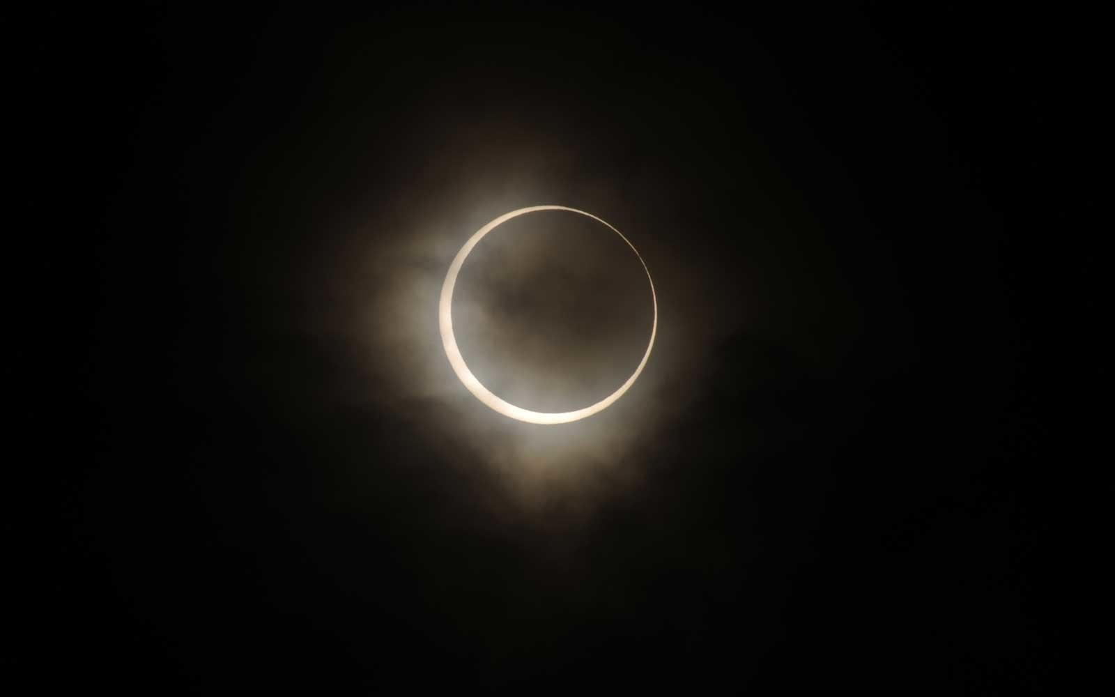 Annular Solar Eclipse is observed