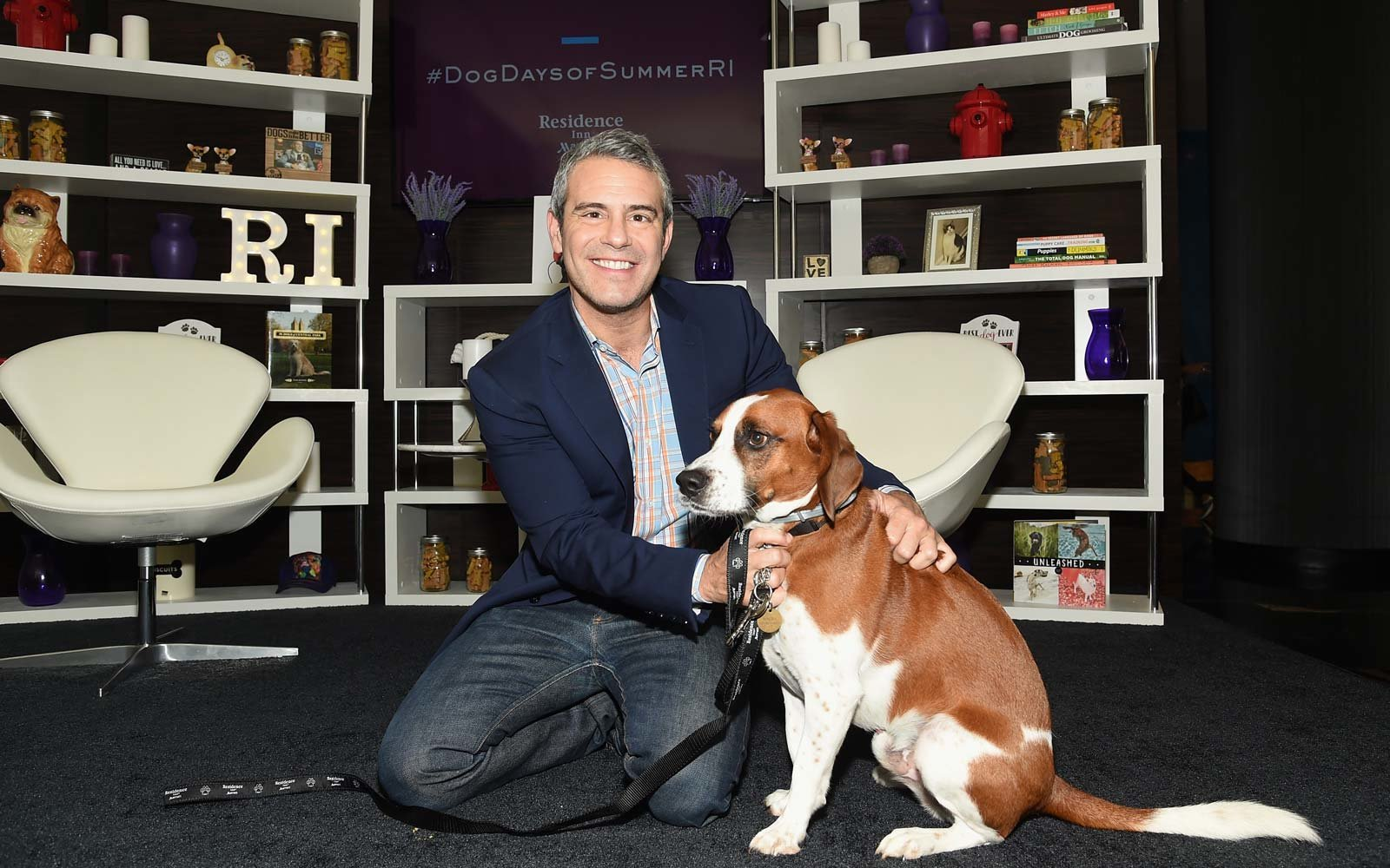 Andy Cohen and Dog