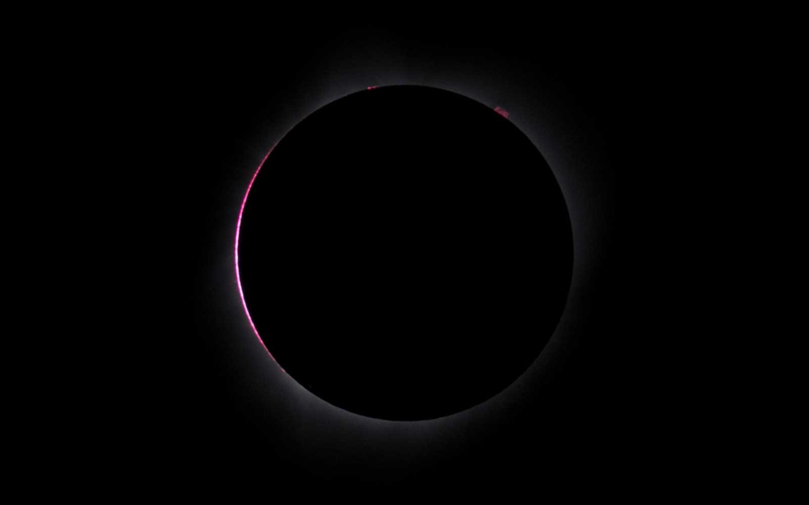 The solar eclipse reaches totality on August 21, 2017 in Amity, Oregon