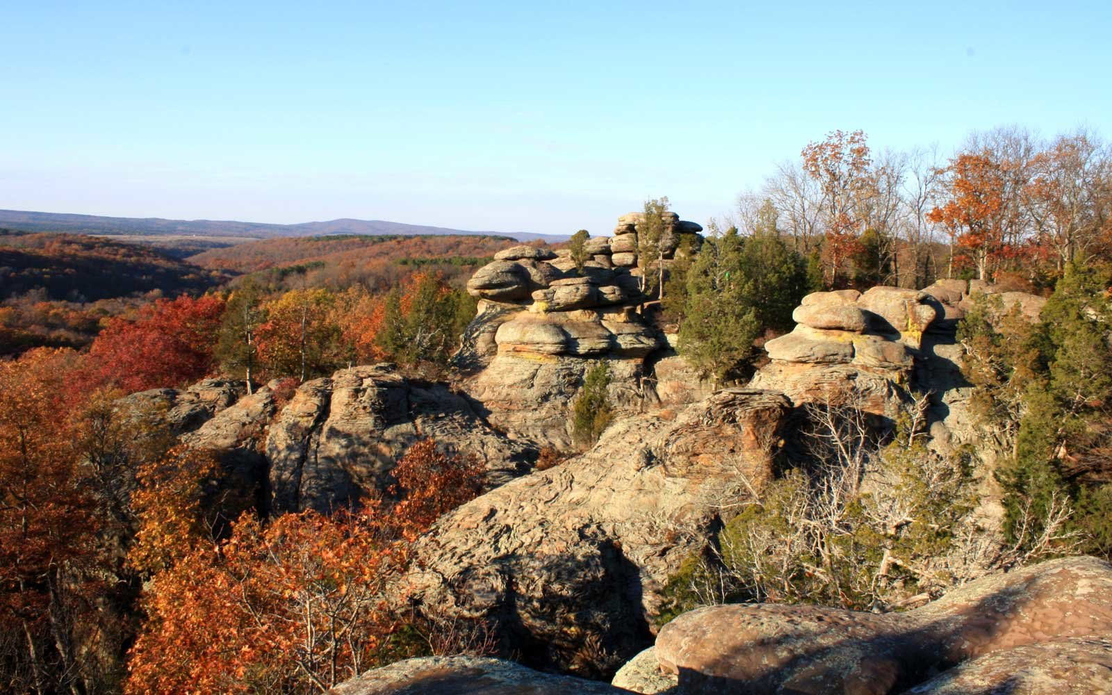 Garden of the Gods in Shawnee National Forest