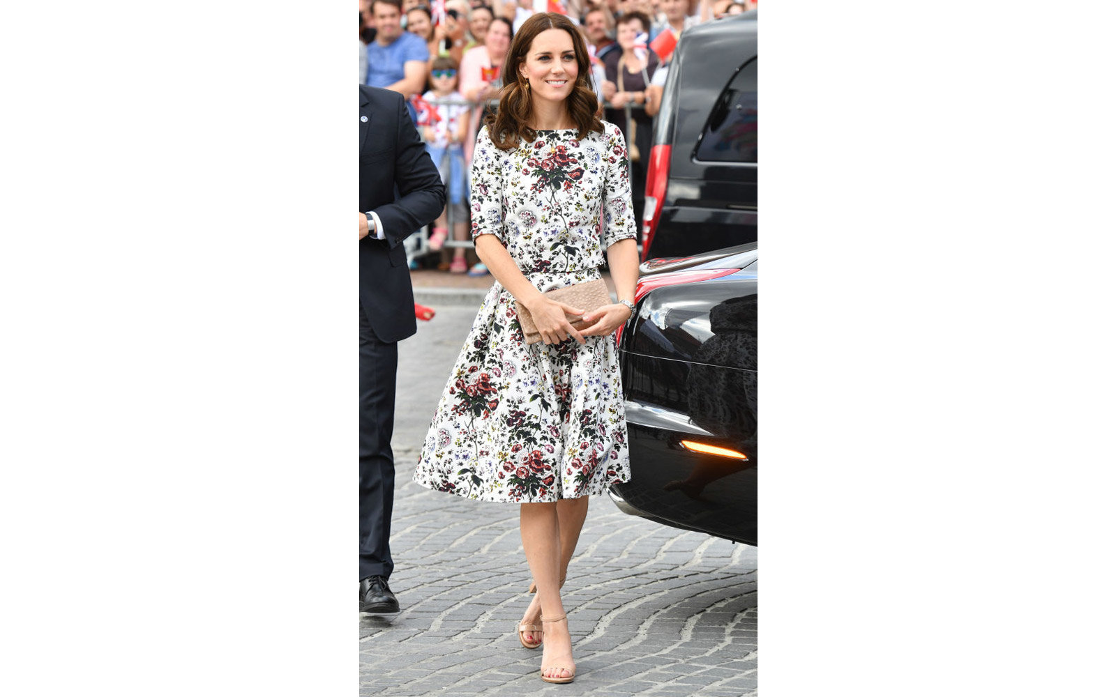 GDANSK, POLAND - JULY 18:  (NO UK SALES FOR 28 DAYS FROM CREATE DATE) Catherine, Duchess of Cambridge visits the Shakespeare theatre during an official visit to Poland and Germany on July 18, 2017 in Gdansk, Poland.  (Photo by Pool/Samir Hussein/WireImage