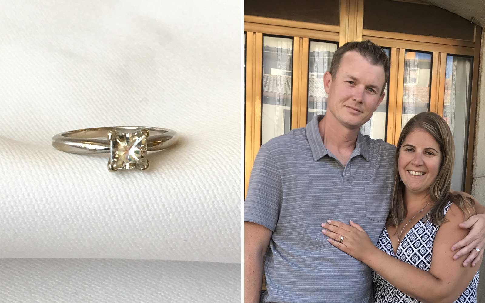 9 Years Later Couple Finds Engagement Ring They Lost While