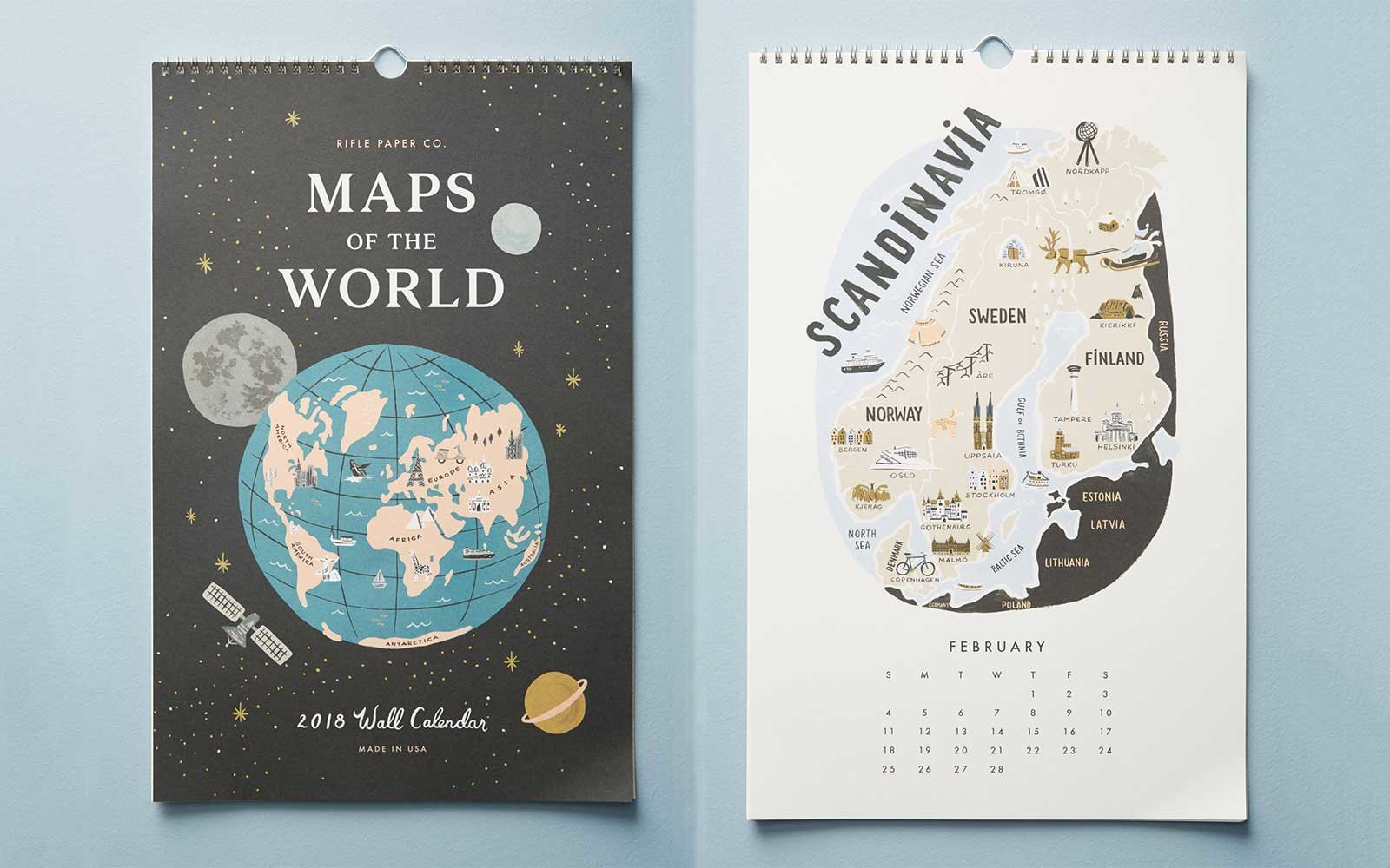 Rifle Paper Co. World Map Calendar