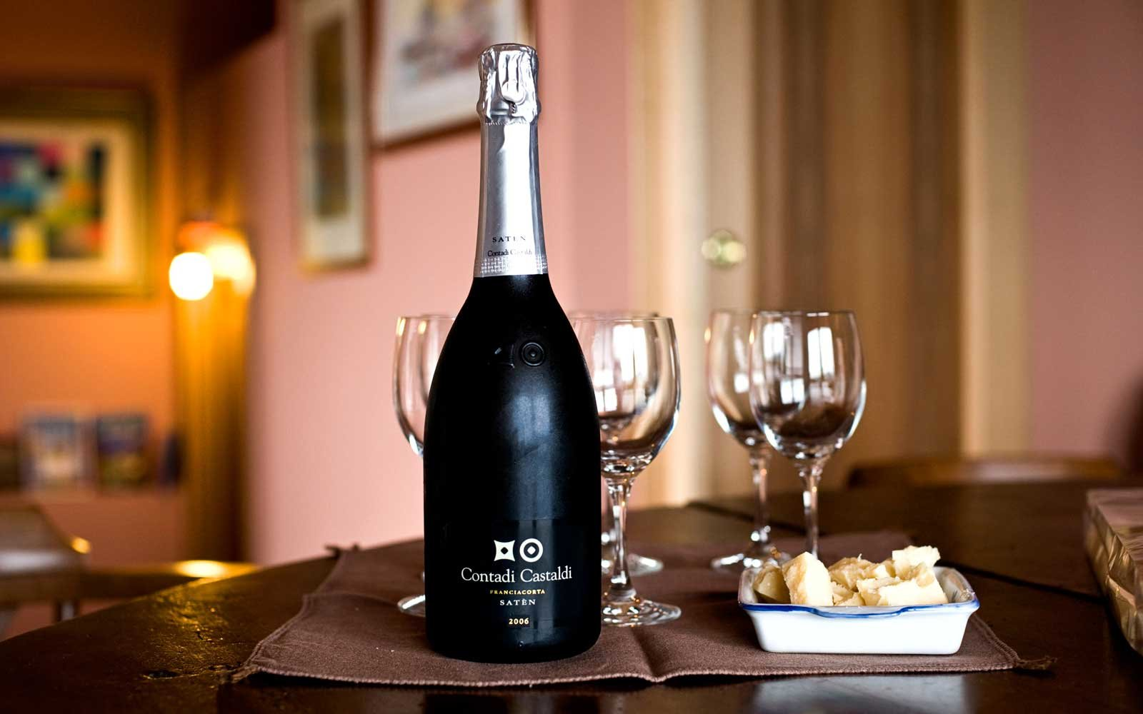 Sparkling Wine from Contadi Castaldi, in the Franciacorta Wine Region of Italy