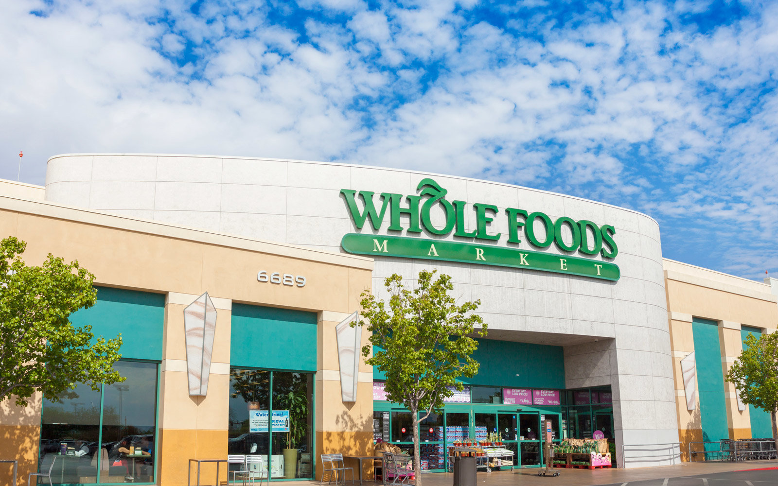 Las Vegas, USA - July 14, 2013: A photo of the Whole Foods store front in Las Vegas. Whole Foods Market is an American supermarket.
