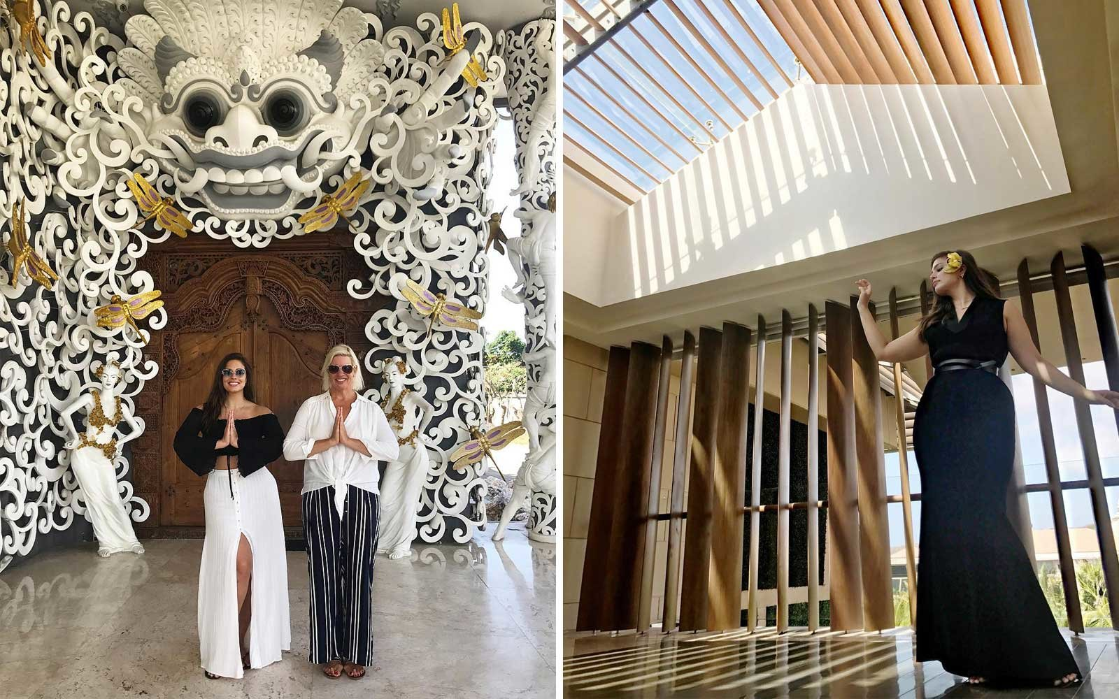 Ashley Graham and Mom Vacation in Bali