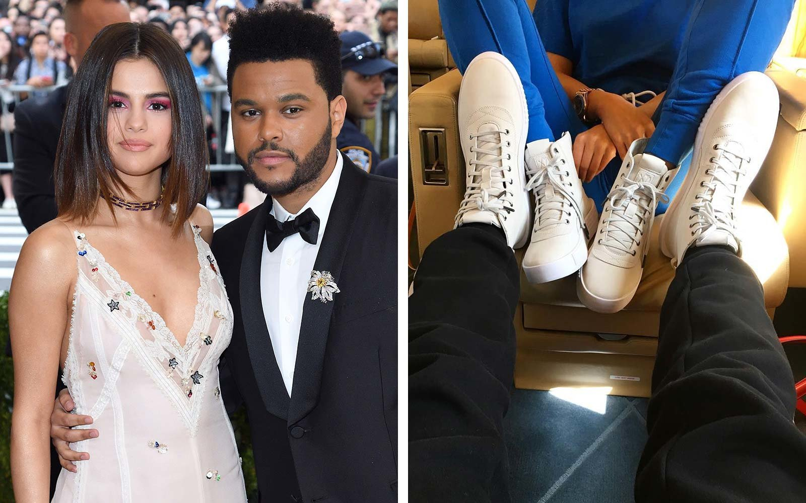 The Weeknd Selena Gomez Puma sneaker shoe collaboration