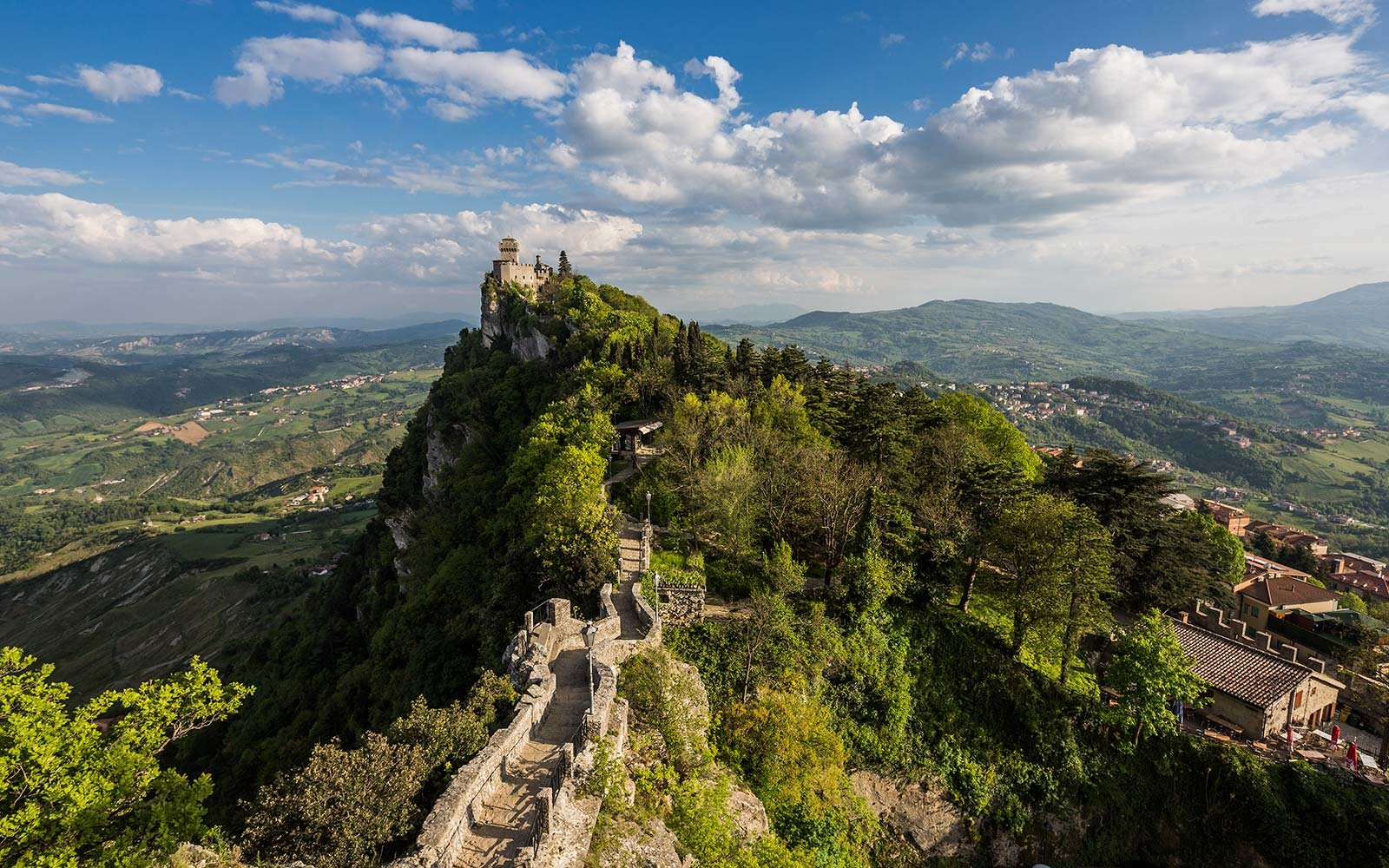 The second Torre (tower) called Cesta or Fratta on the Monte (mount) Titano San Marino