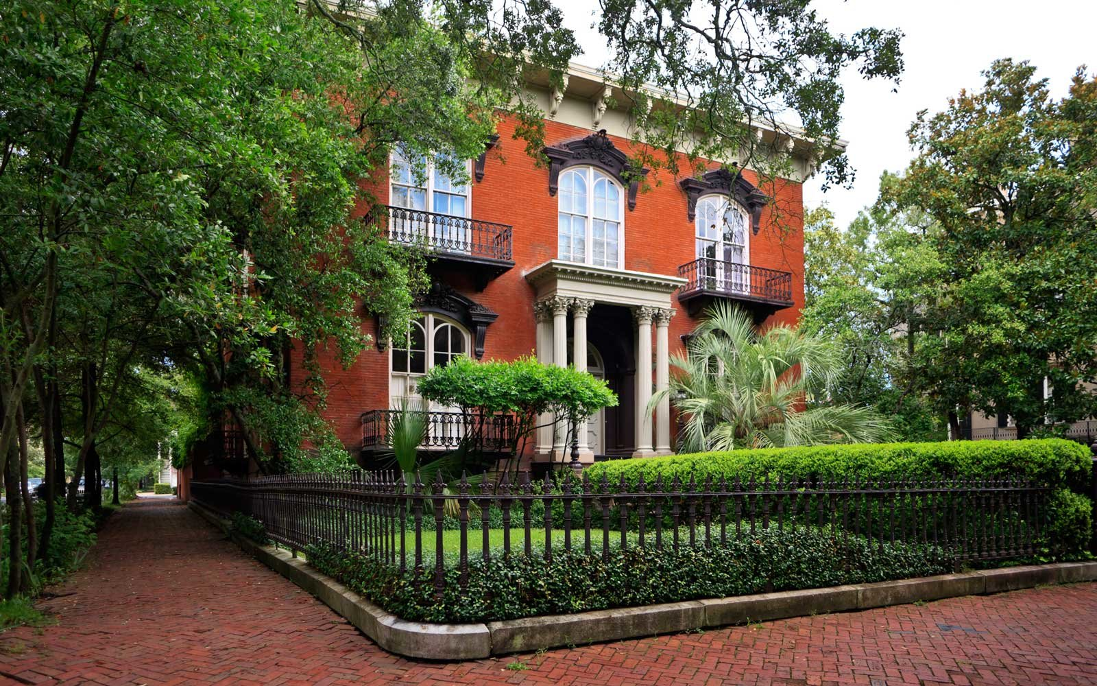Mercer Williams House on Monterey Square in the Historic District of Savannah, Georgia.