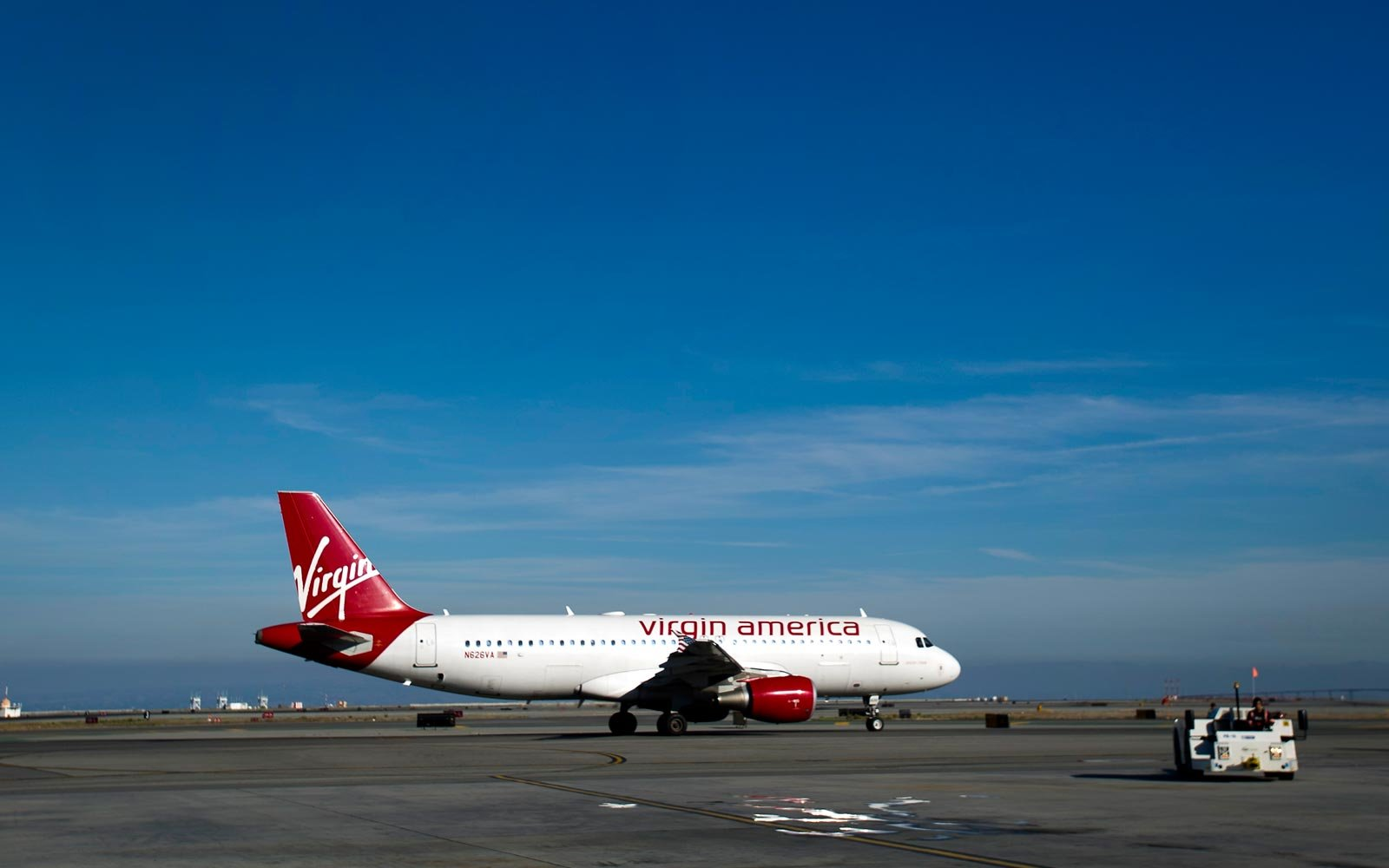 Virgin America Airplane in San Francisco