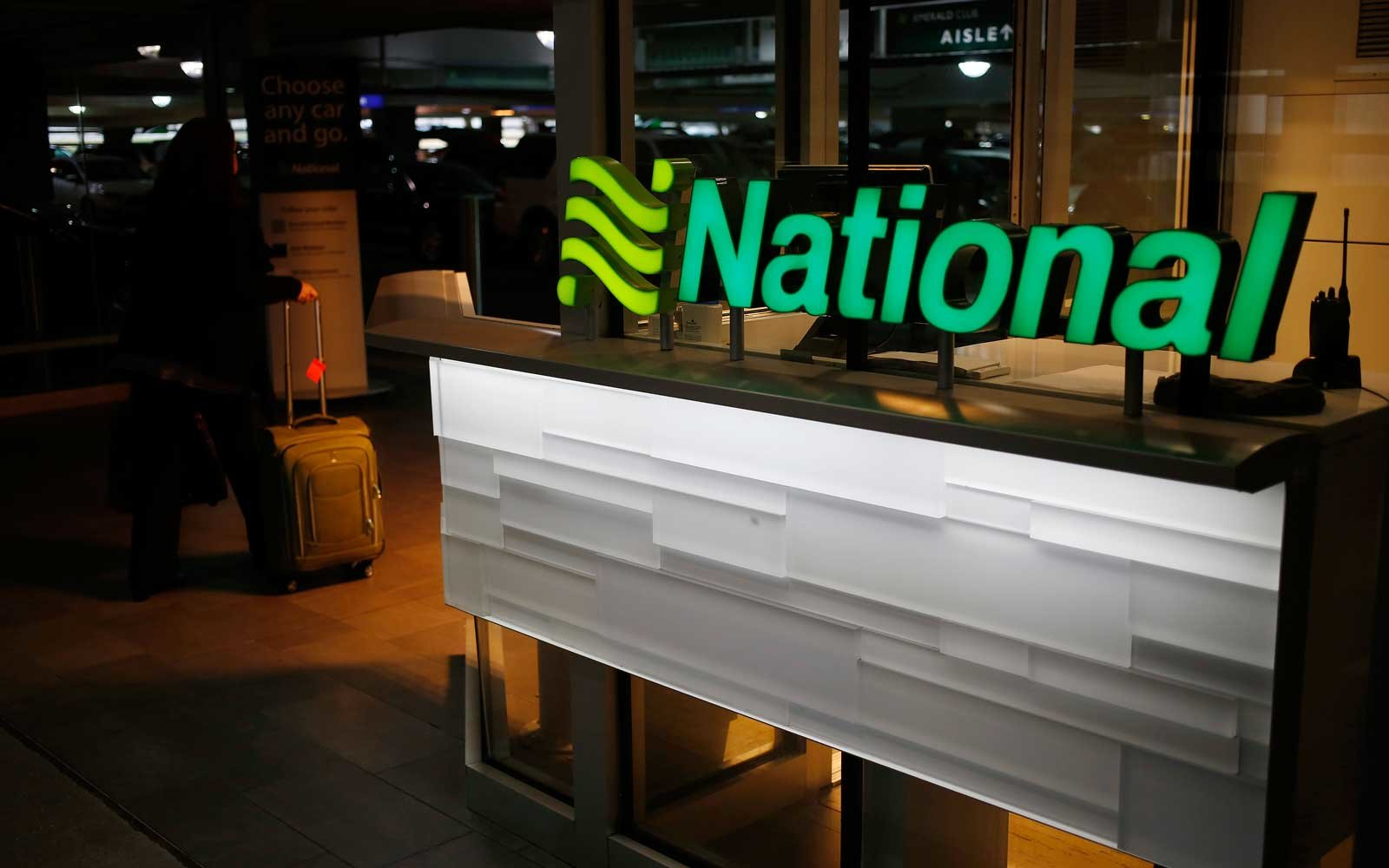 National Car Rental Counter in Indianapolis