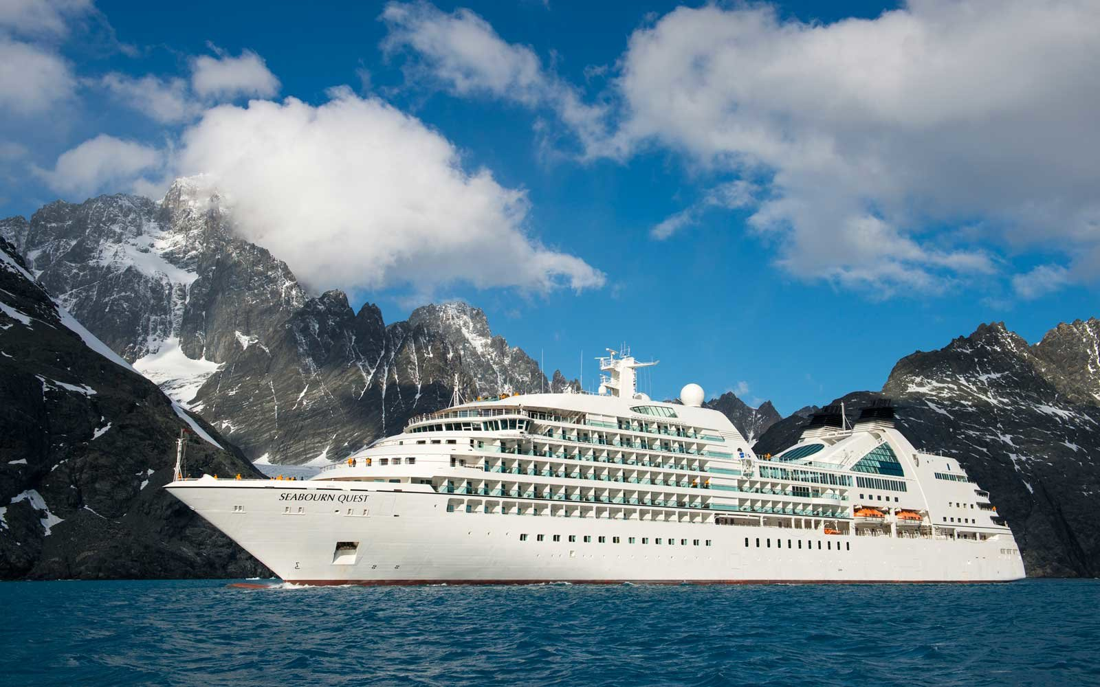 Seabourn Quest in South Georgis fjords