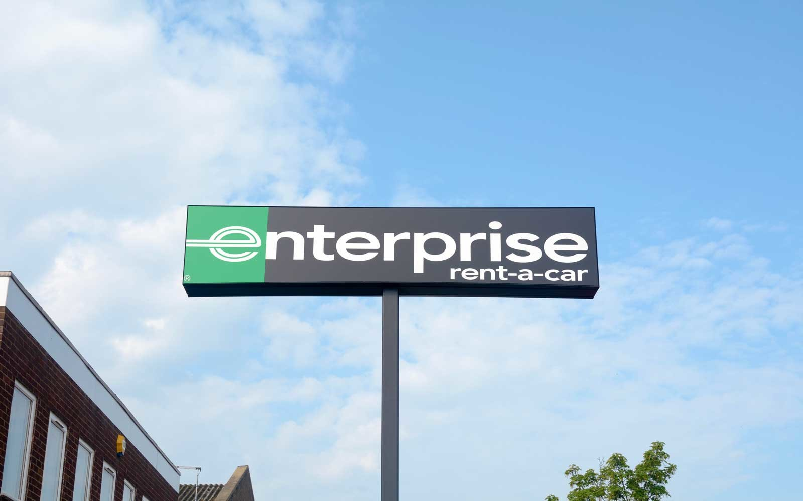 Enterprise Rent-a-Car Sign