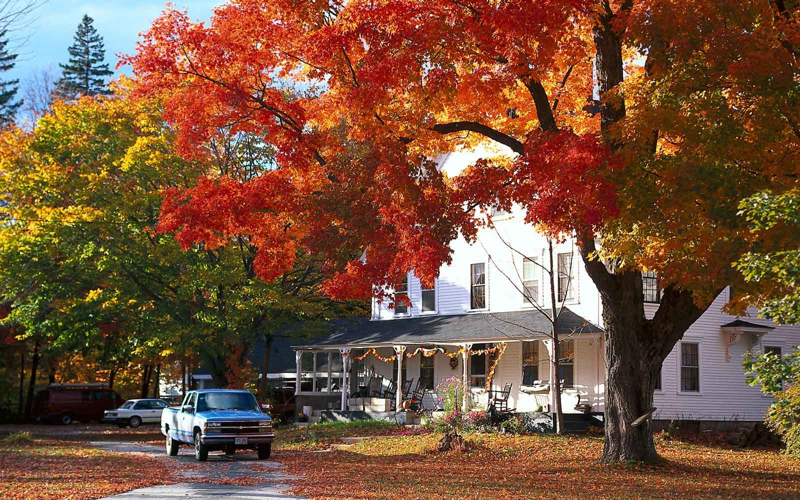 Autumn in North Conway, New Hampshire