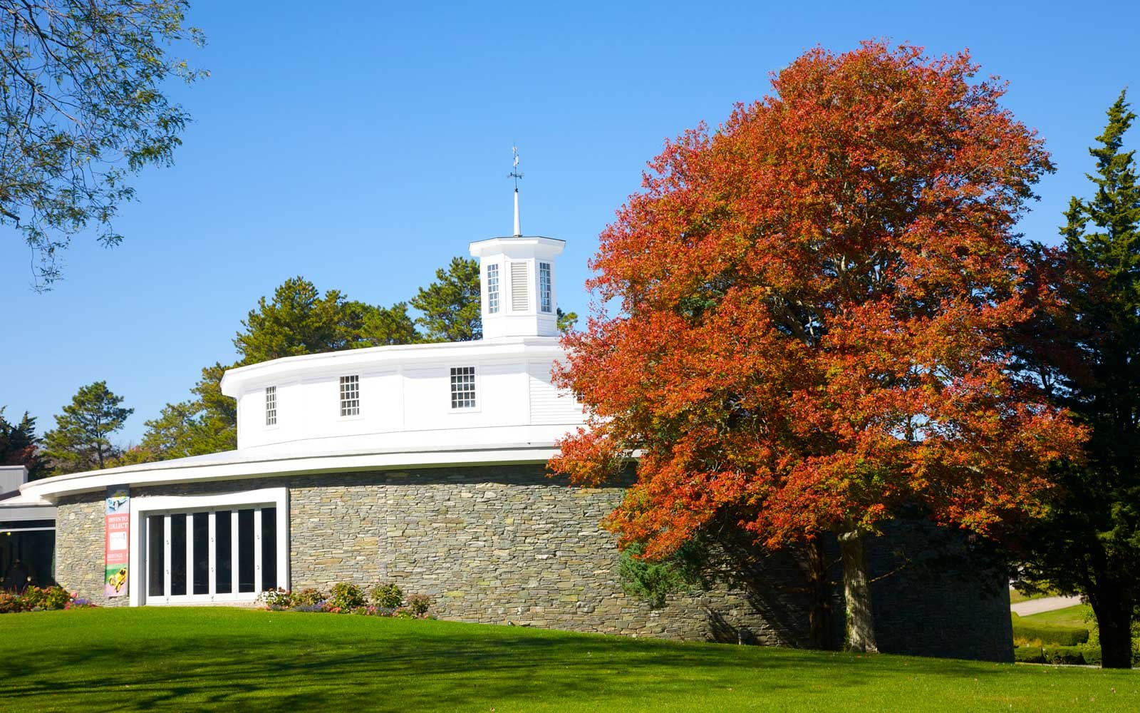 Fall at a Round Barn in Cape Cod, Massachusetts