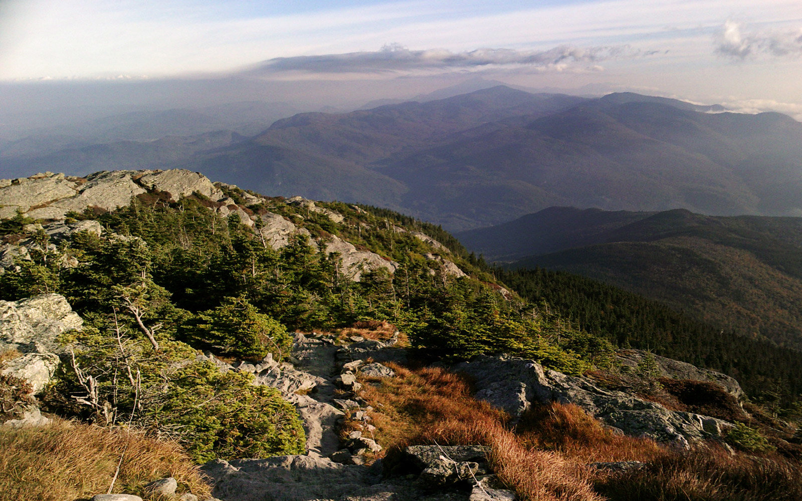 View North From Camel's Hump Summit in Vermont's Green Mountains
