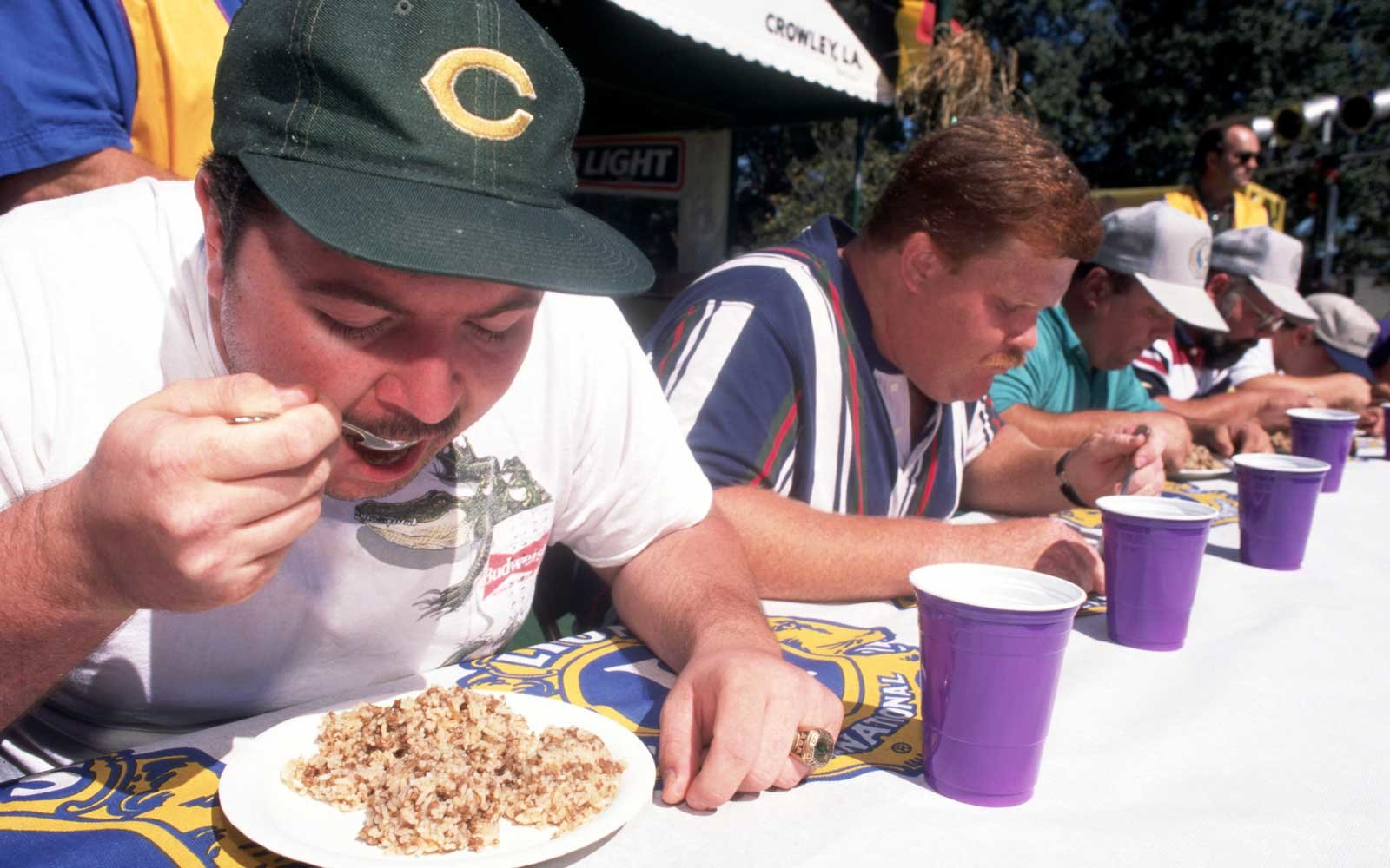 Louisiana Rice-Eating Competition