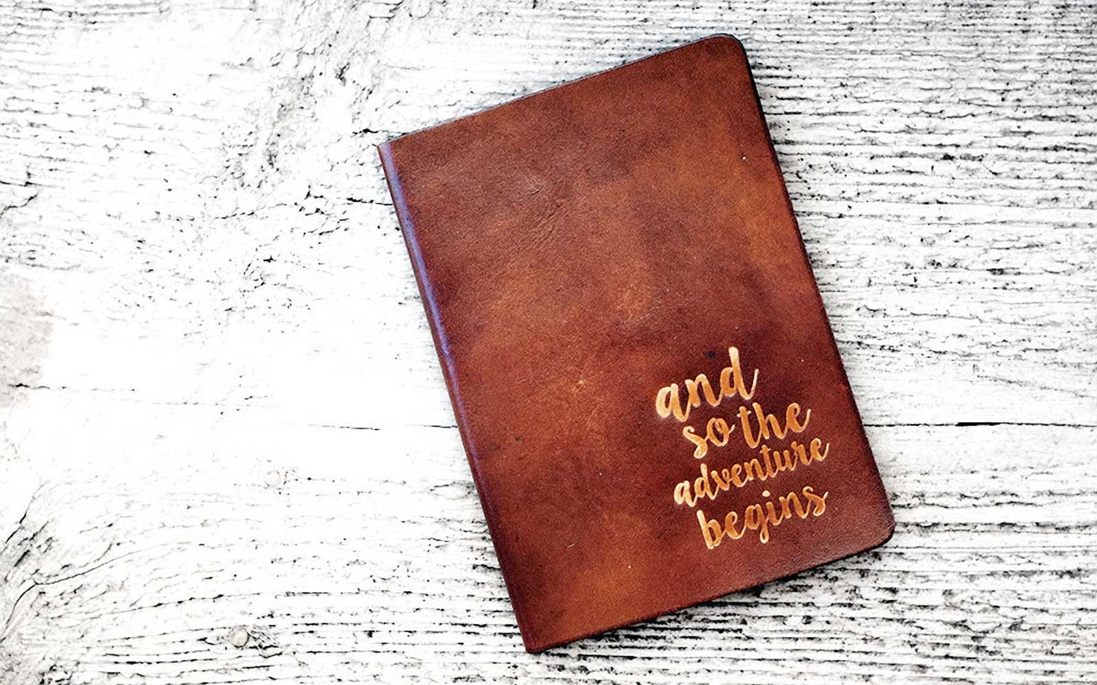 Leather Quote Passport Covers