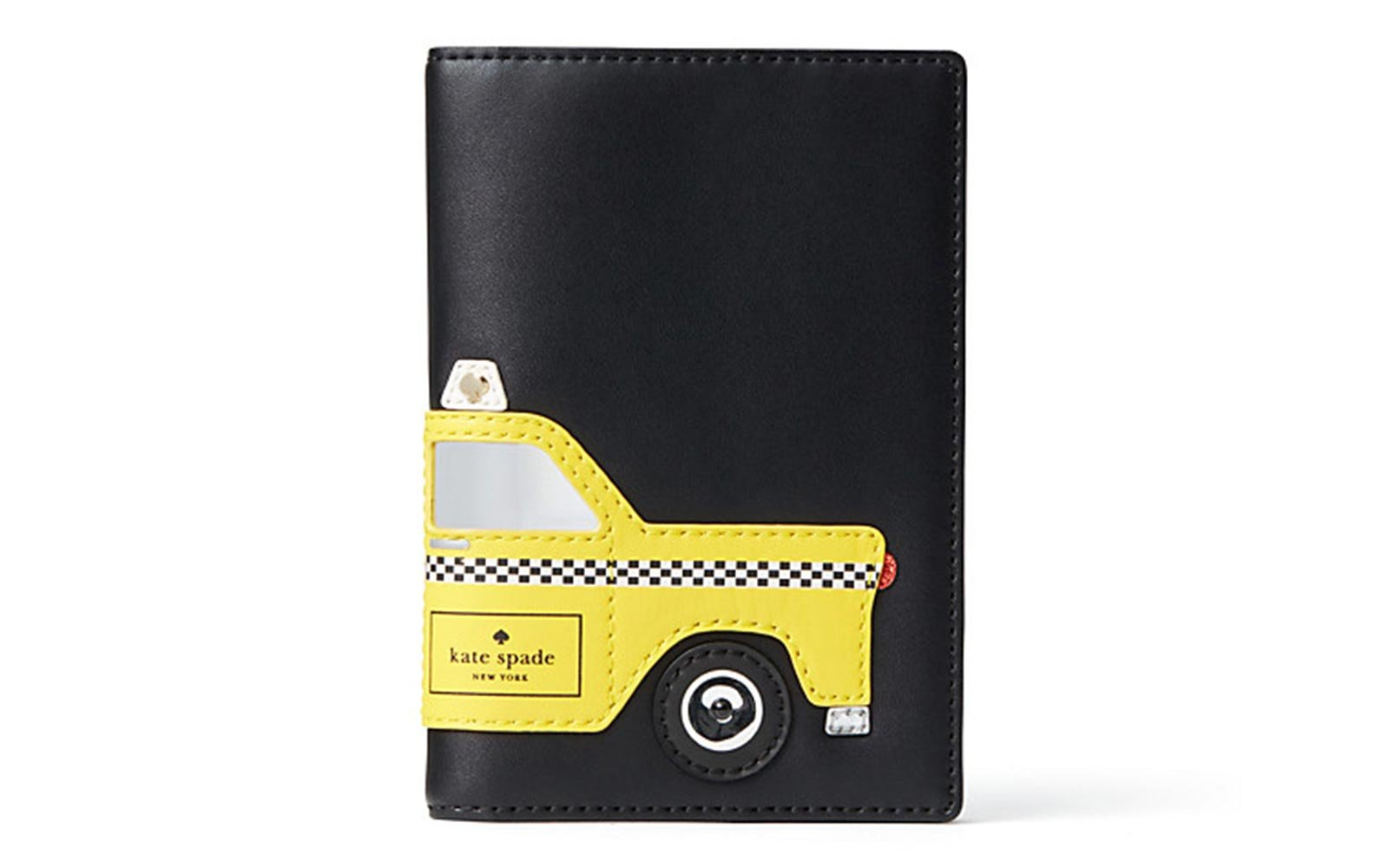 11 cute passport covers for clearing customs in style travel leisure kate spade nouveau york taxi passport holder gumiabroncs Image collections