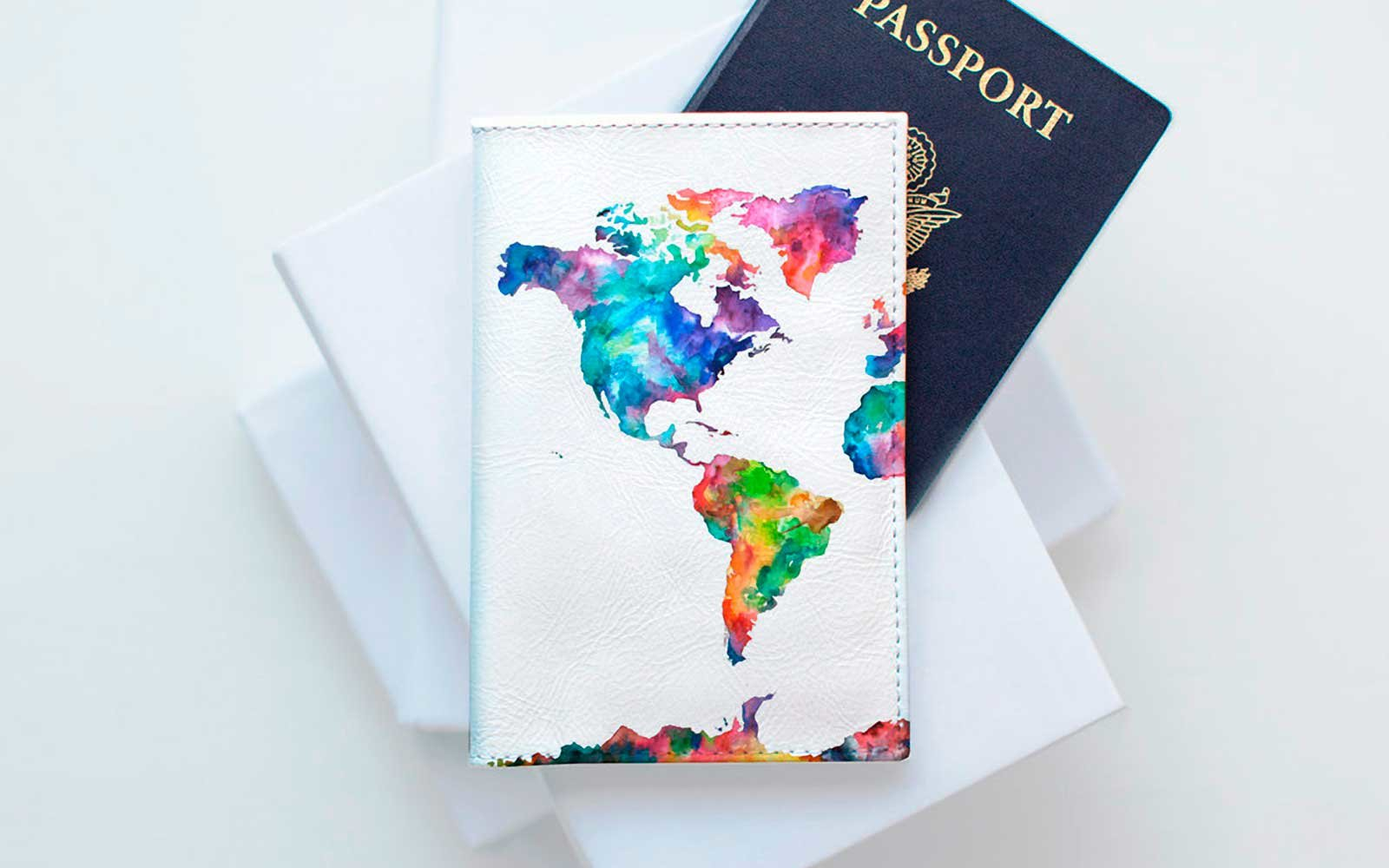 11 cute passport covers for clearing customs in style travel leisure watercolor map passport holder gumiabroncs Image collections