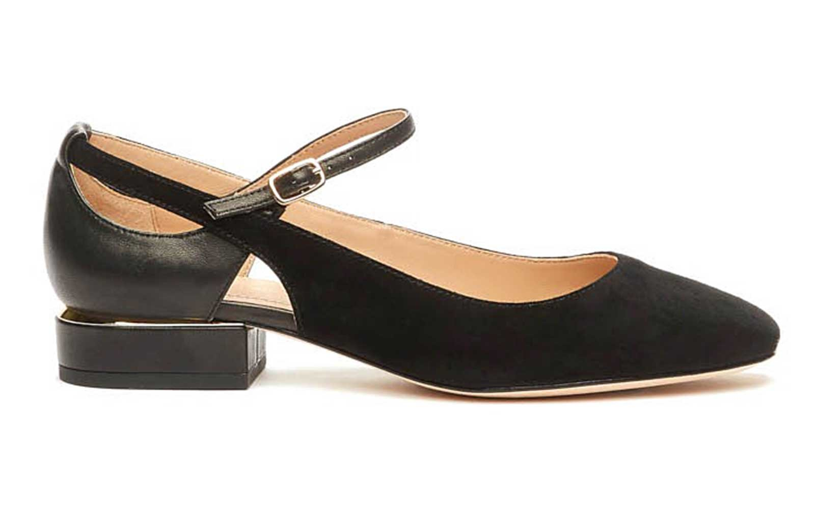 Suede and Leather Mary Janes